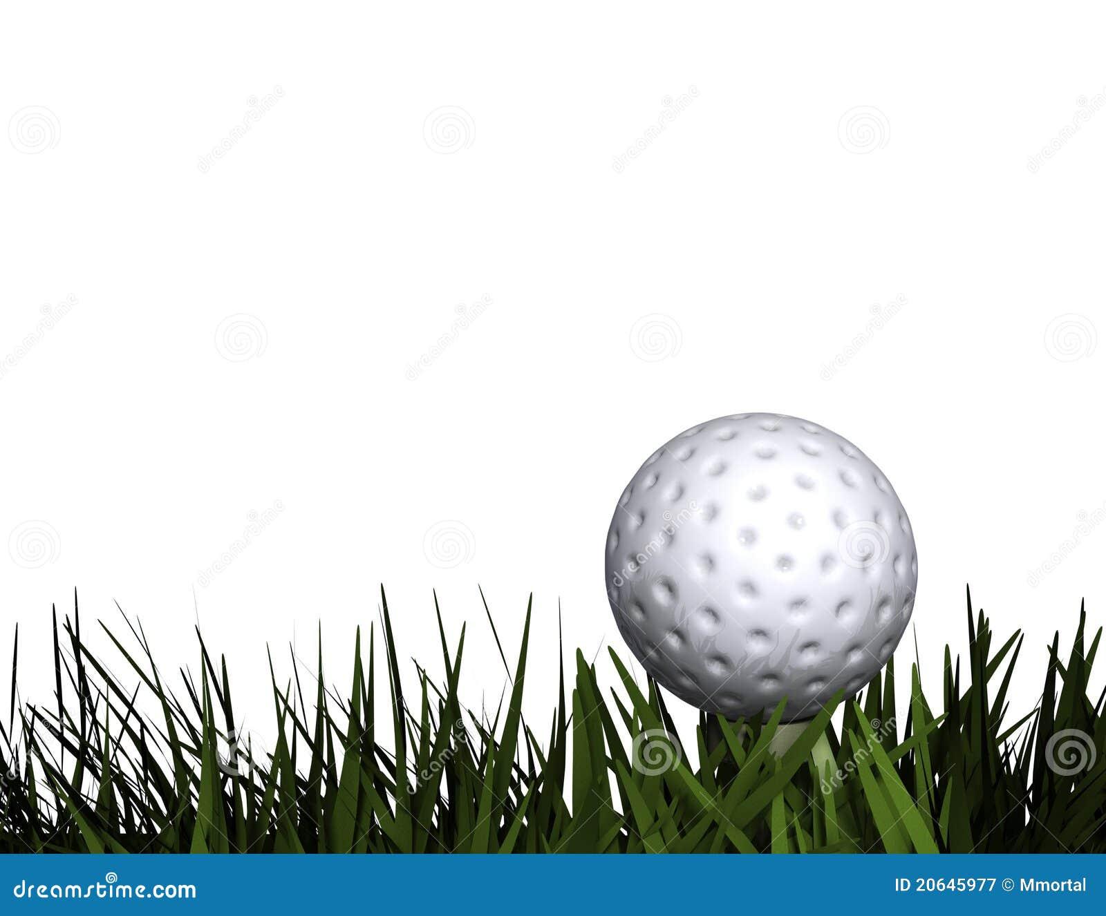 Bille de golf sur le té dans l herbe