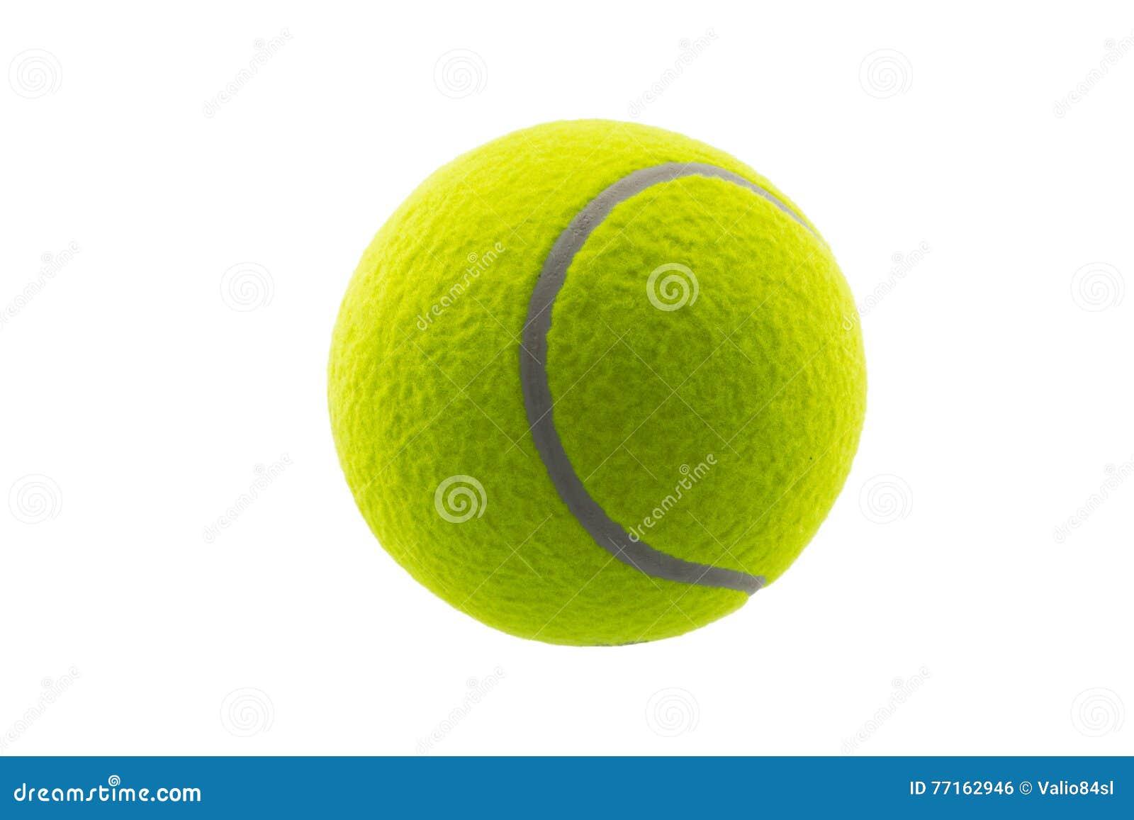 Bille de tennis d isolement sur le blanc