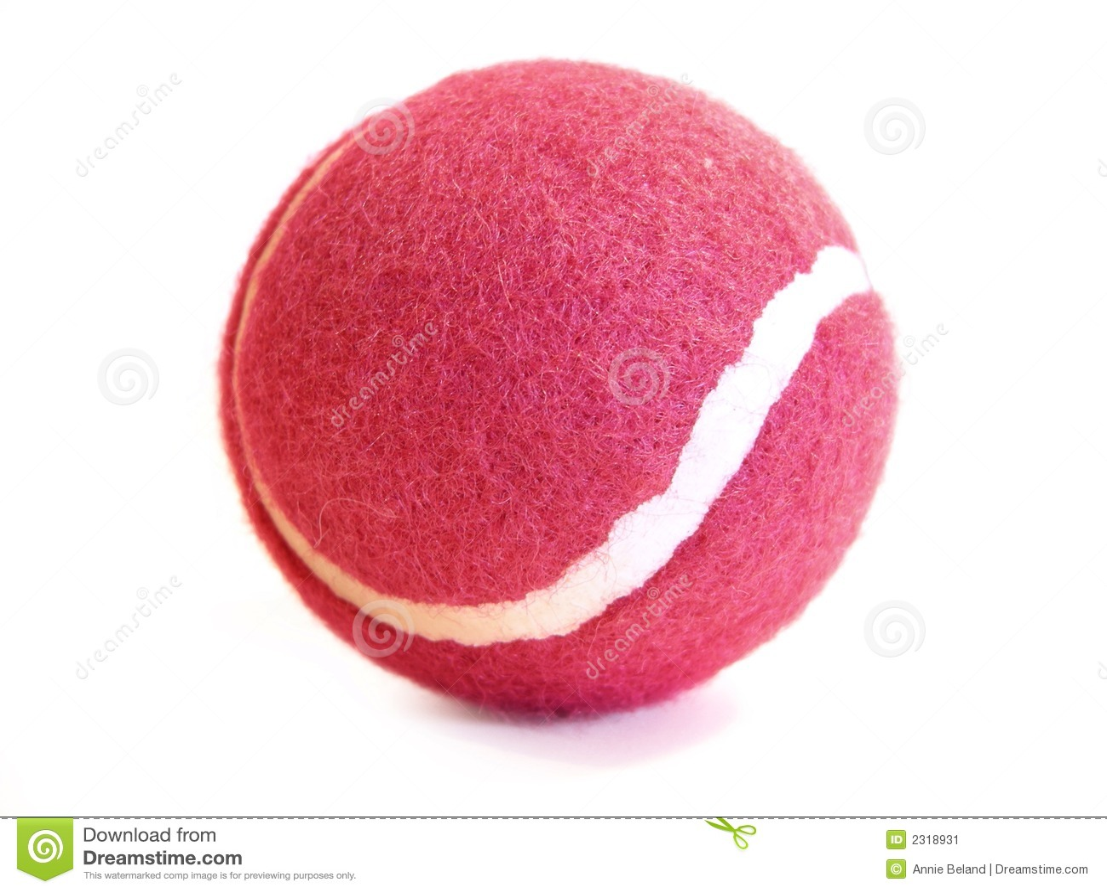 Bille de tennis rose