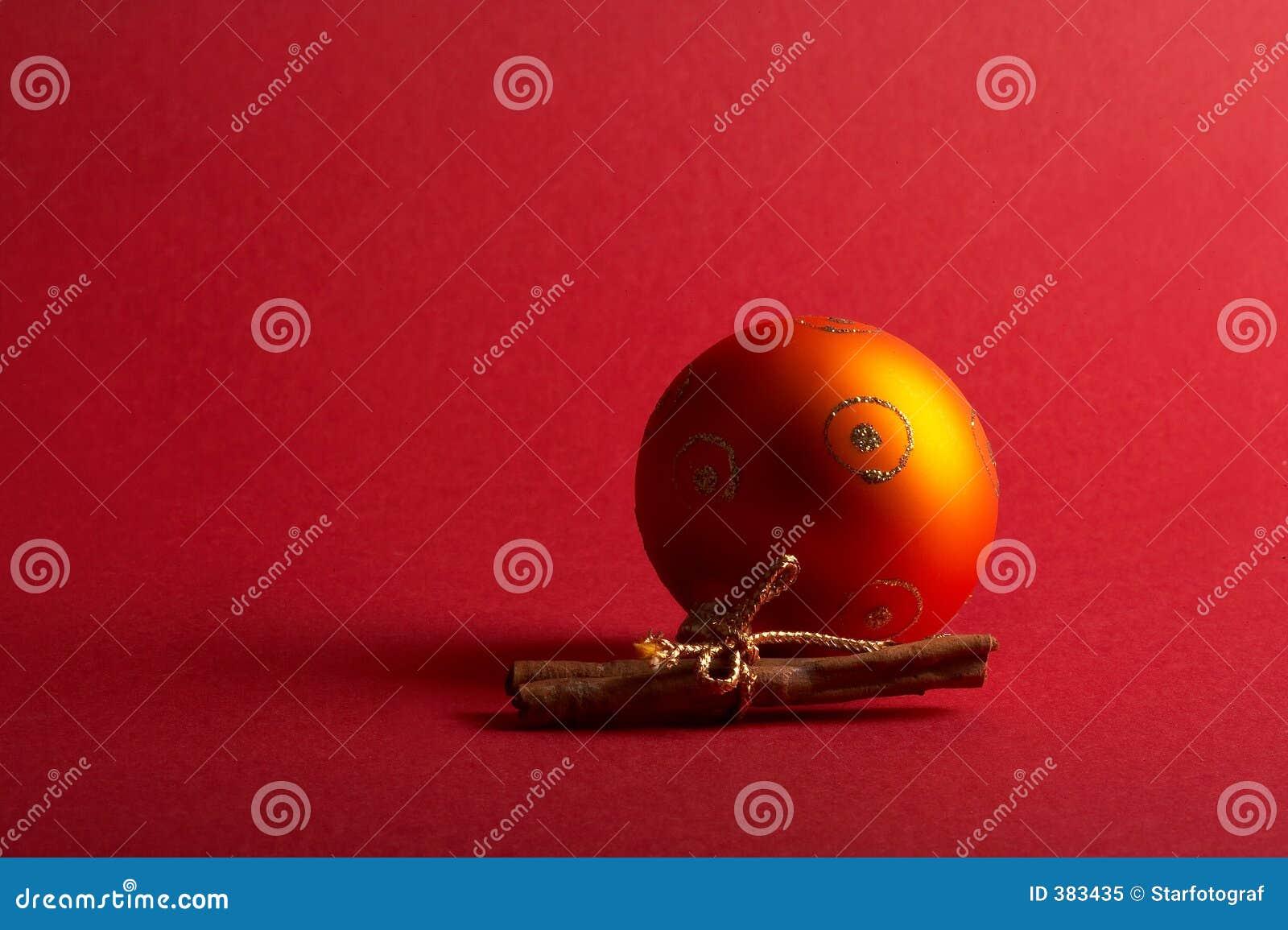 Bille orange d arbre de Noël - Weihnachtskugel orange