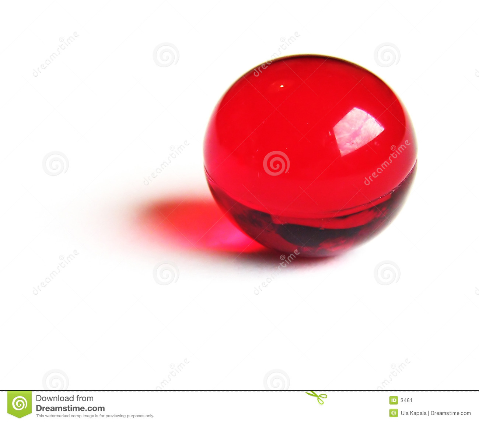 Bille rouge de bain.