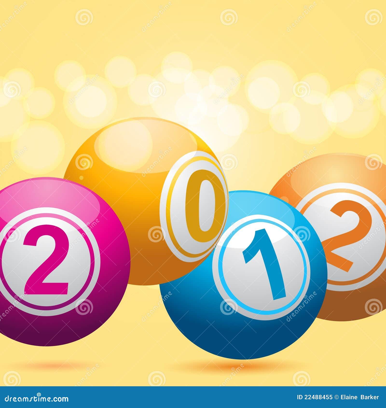 Billes 2012 de loterie de bingo-test