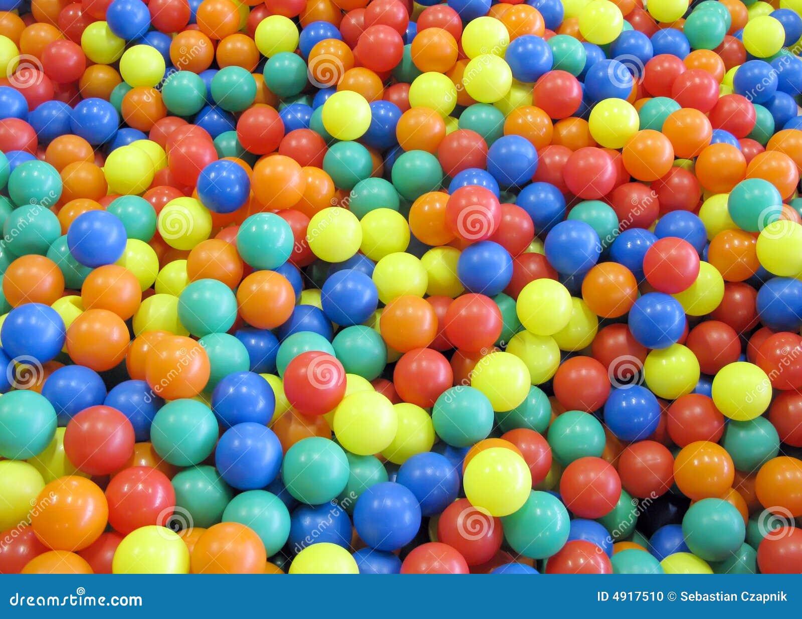Billes colorées d amusement