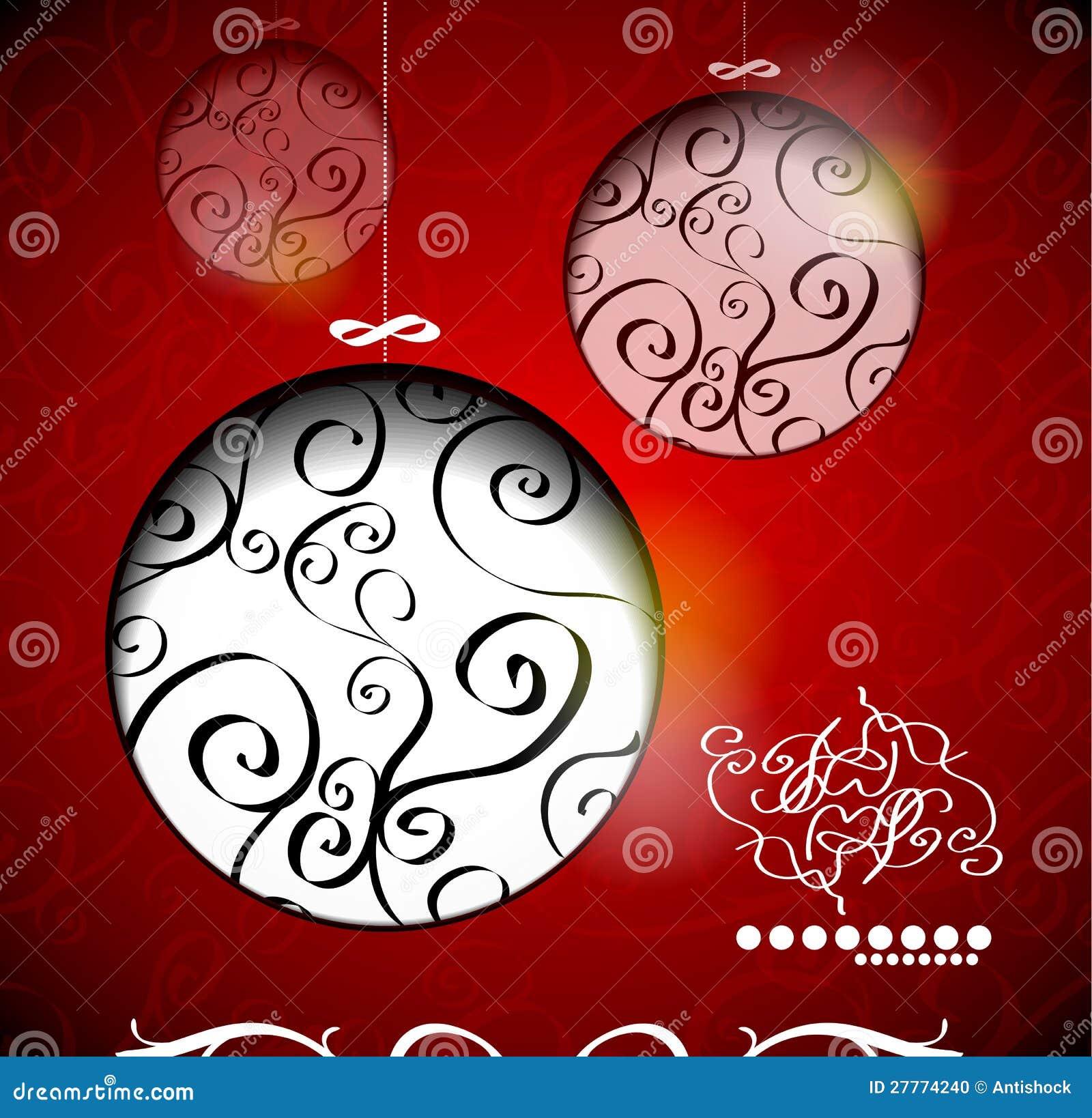 Billes créatrices de Noël avec calligraphique