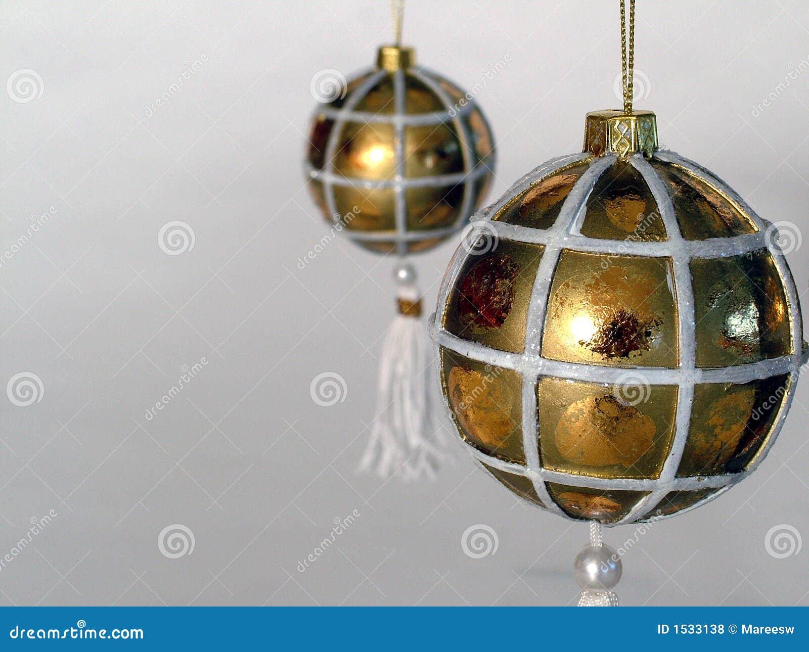 Billes d or de Noël
