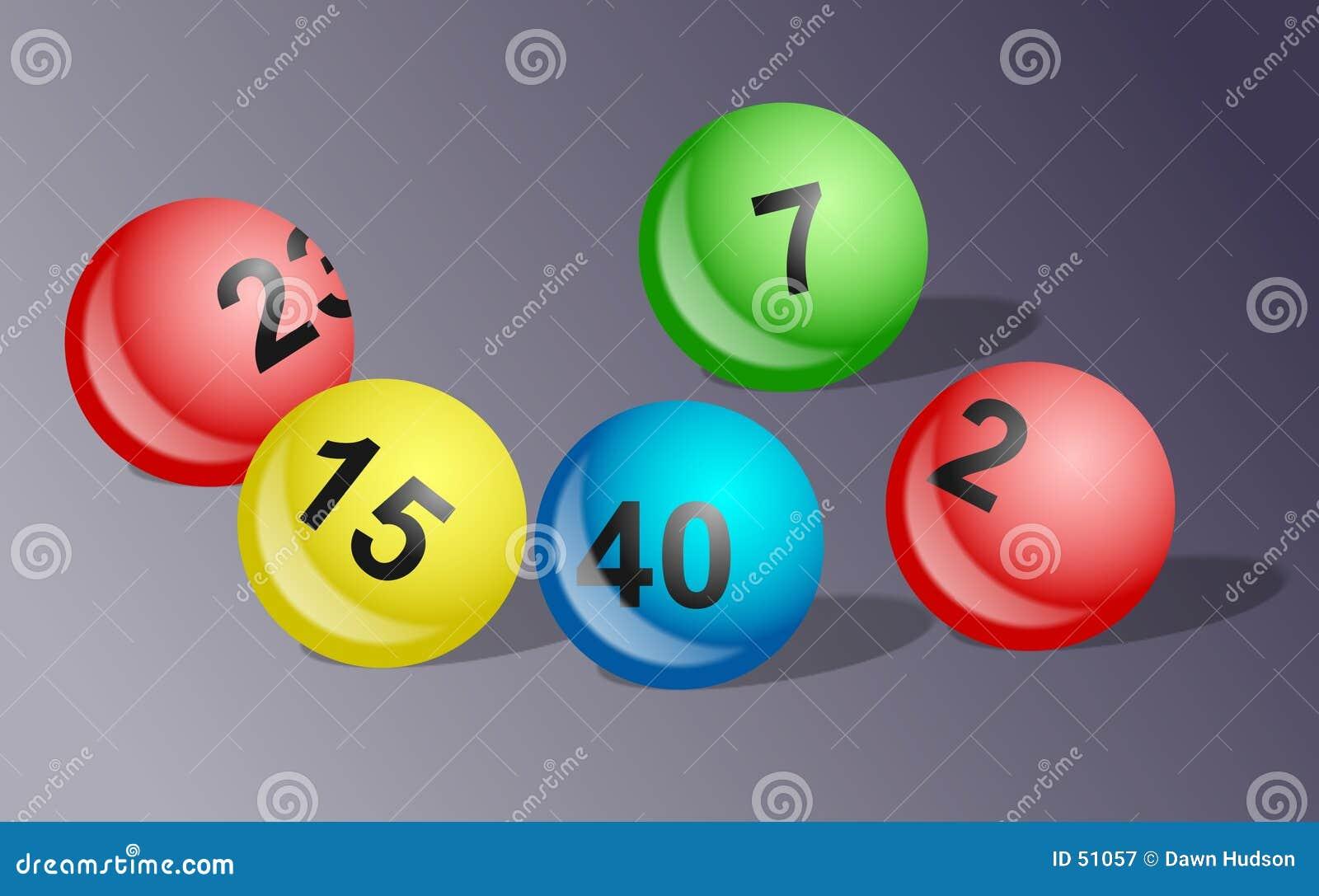 Download Billes de loterie image stock. Image du concepts, cinq, richesse - 51057