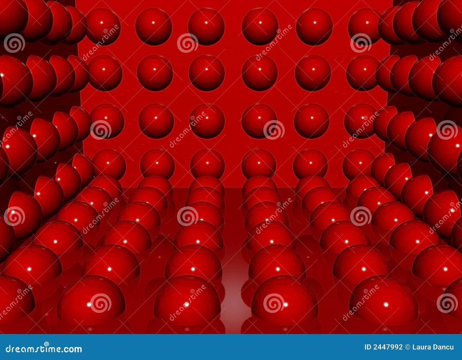 Billes de rouge de charme