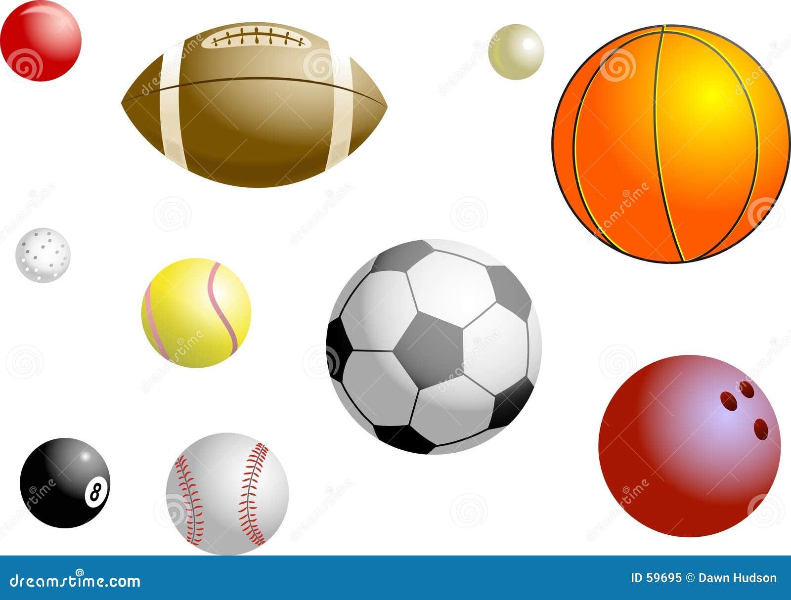 Download Billes de sports illustration stock. Illustration du football - 59695