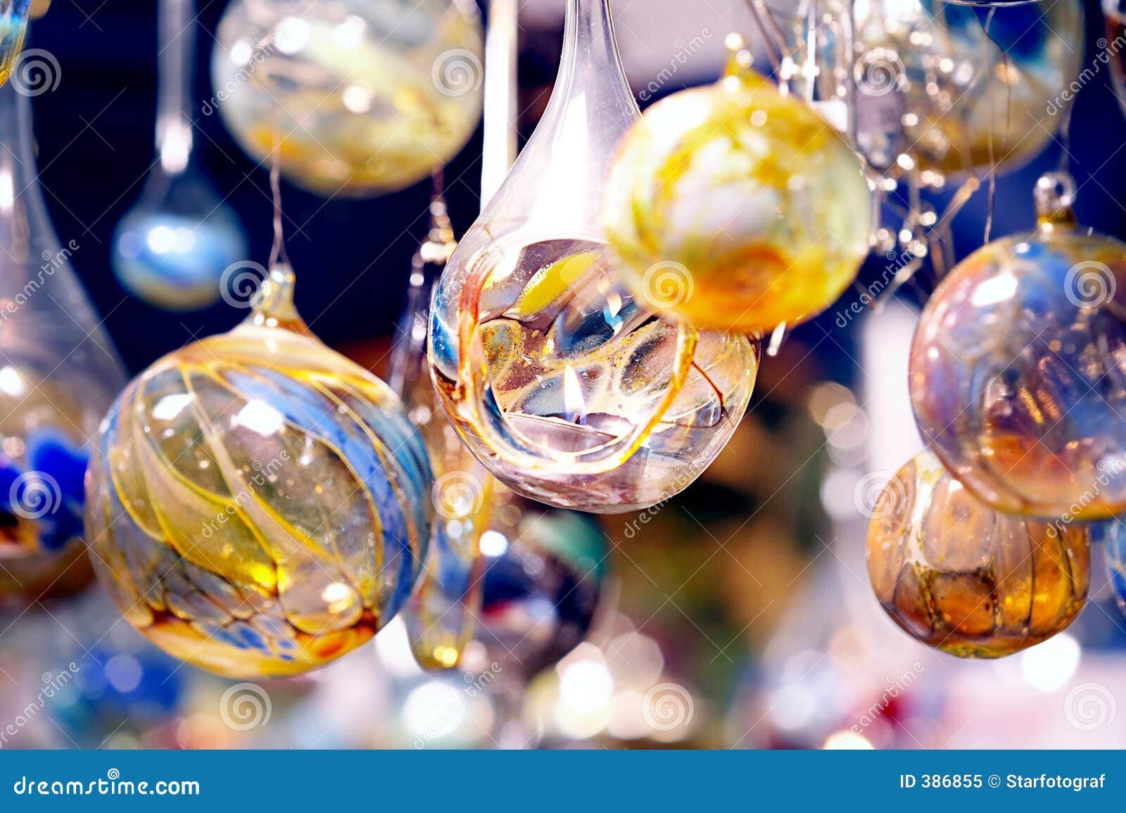 Billes en cristal avec la bougie - MIT Kerzen de Glaskugeln