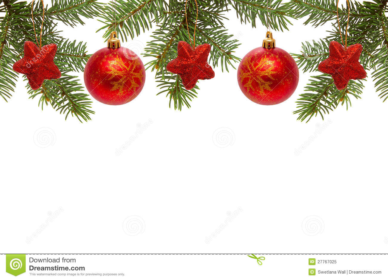 Billes et étoiles rouges de Noël.