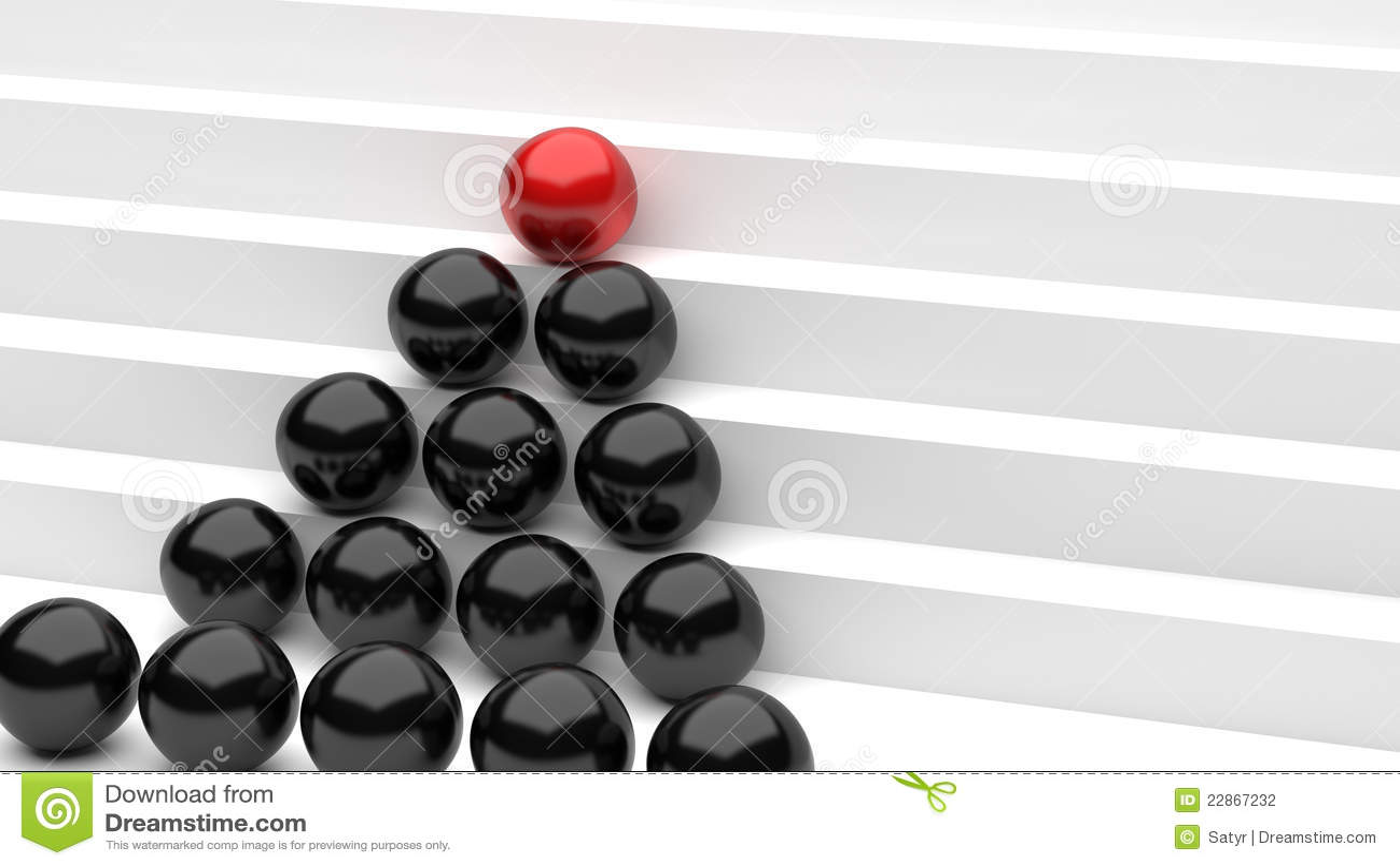 Billes noires rouges d accroissement
