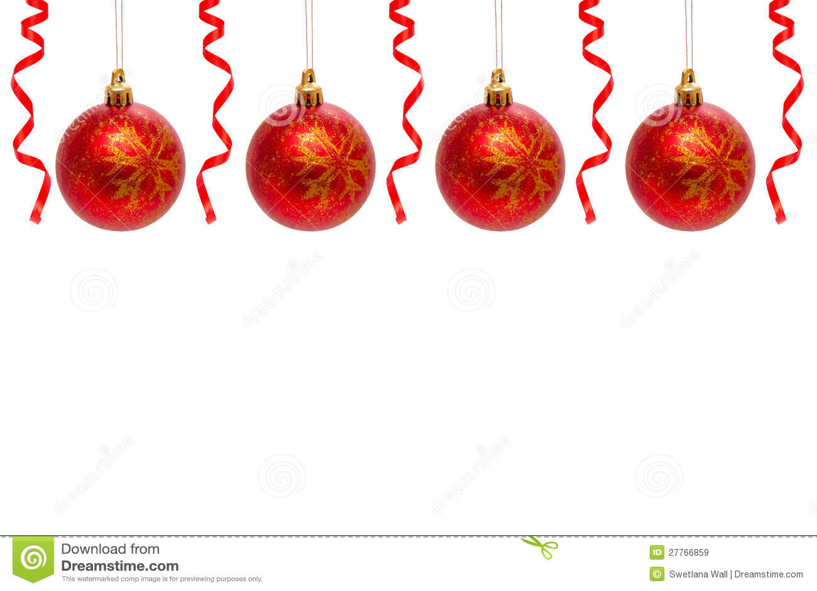 Billes rouges de Noël.