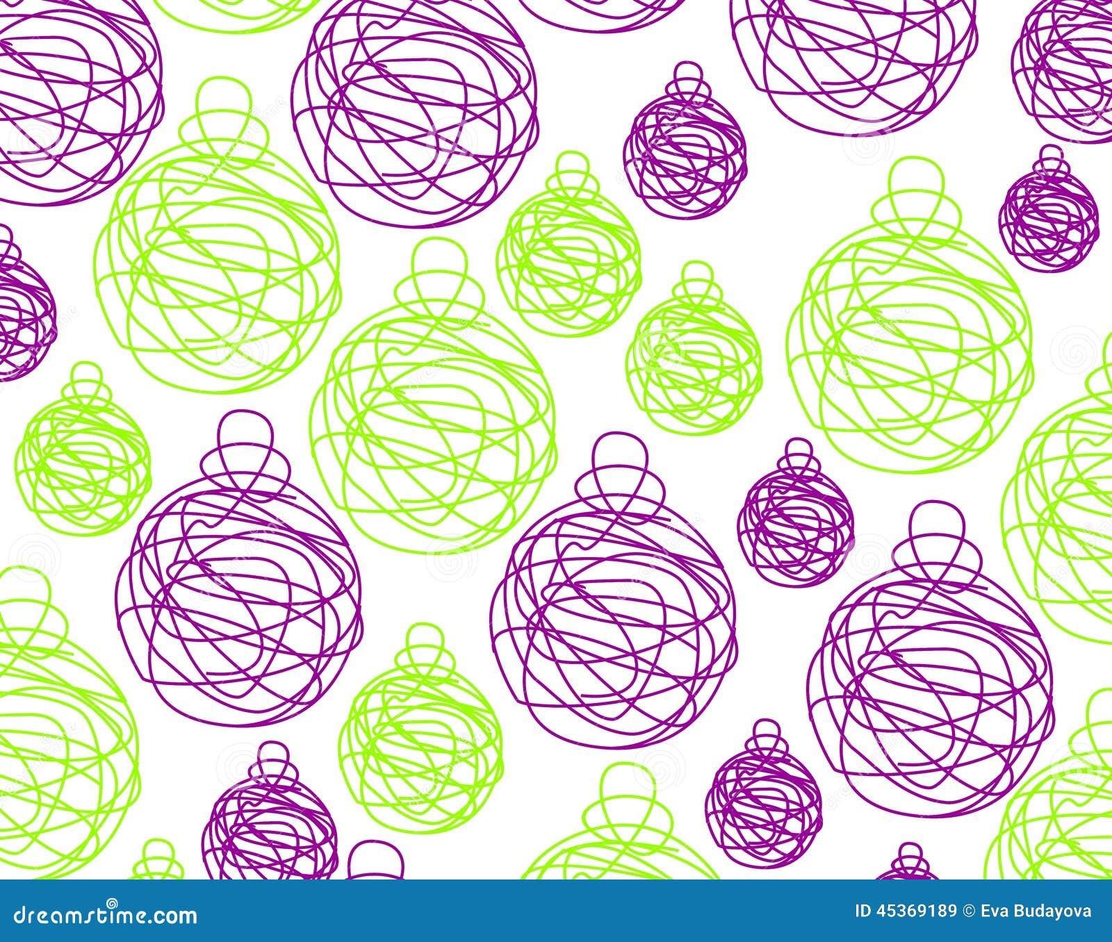 Billes violettes de Noël