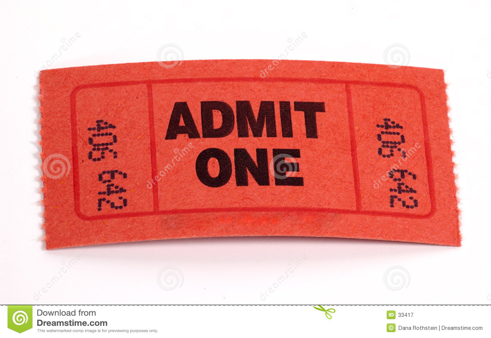 Billet d admission