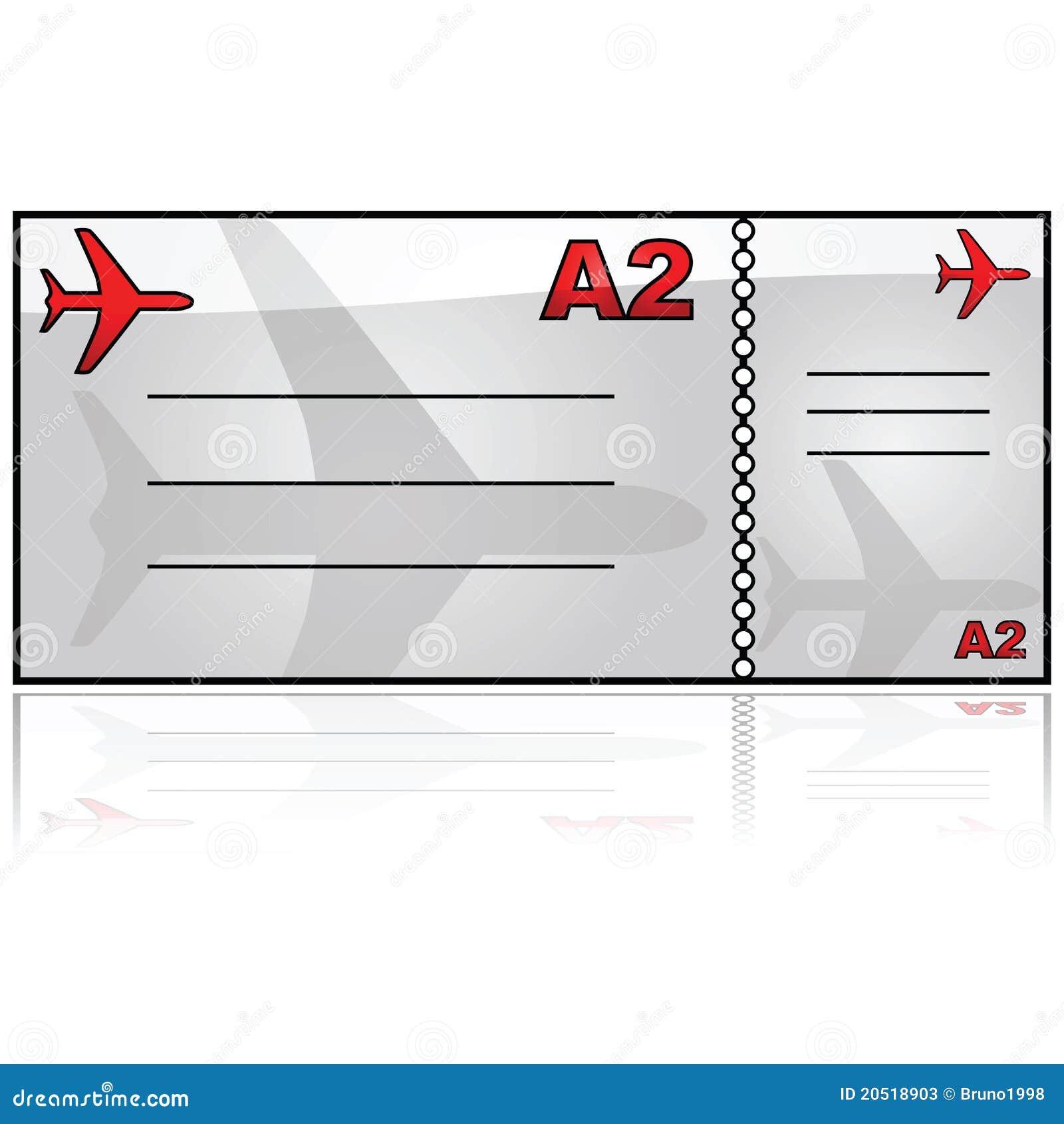 Billet d 39 avion illustration de vecteur illustration du - Modele billet avion a imprimer ...