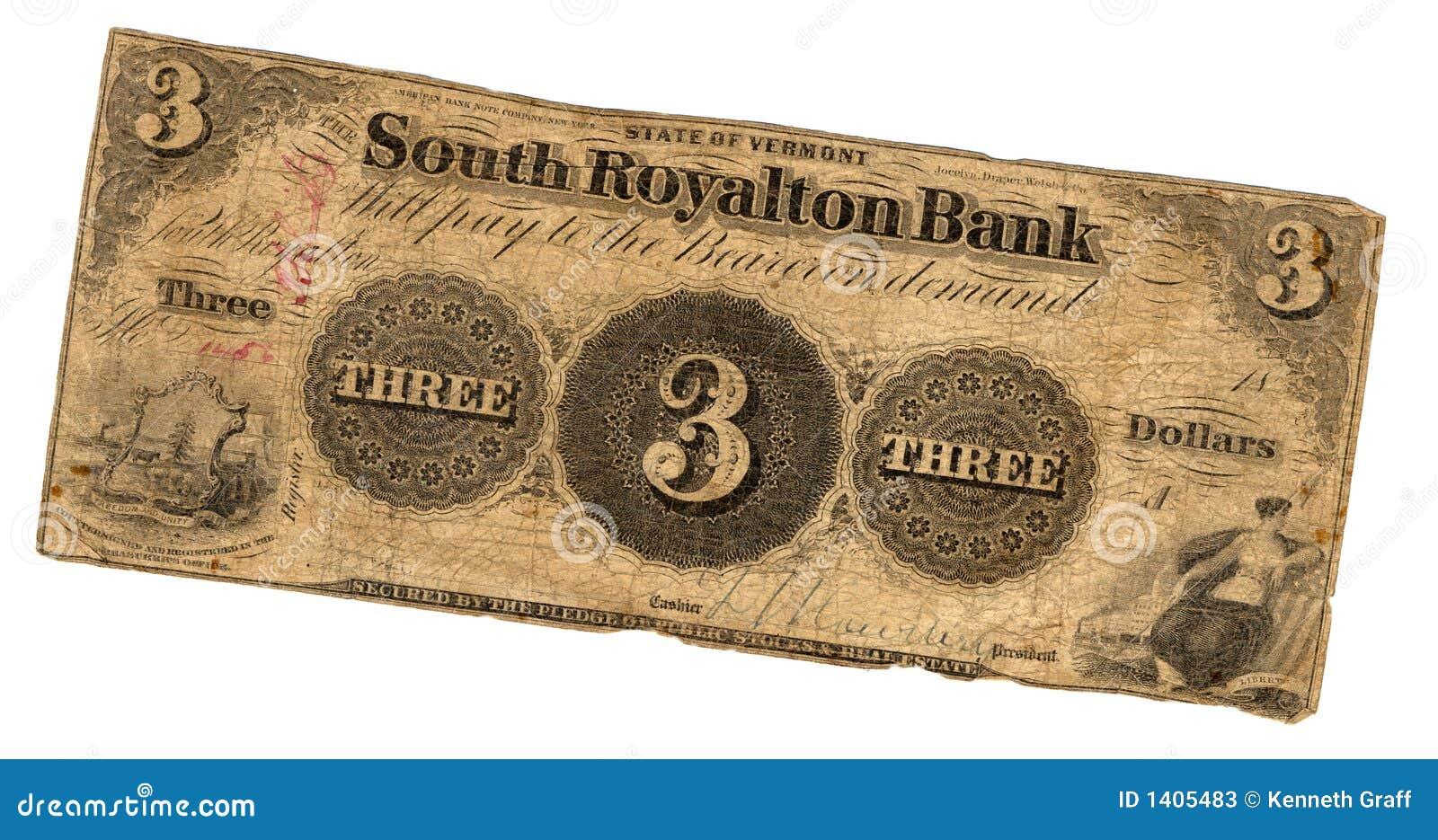 Billet d un dollar trois