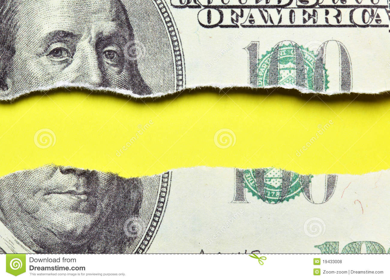 billet de banque dechire