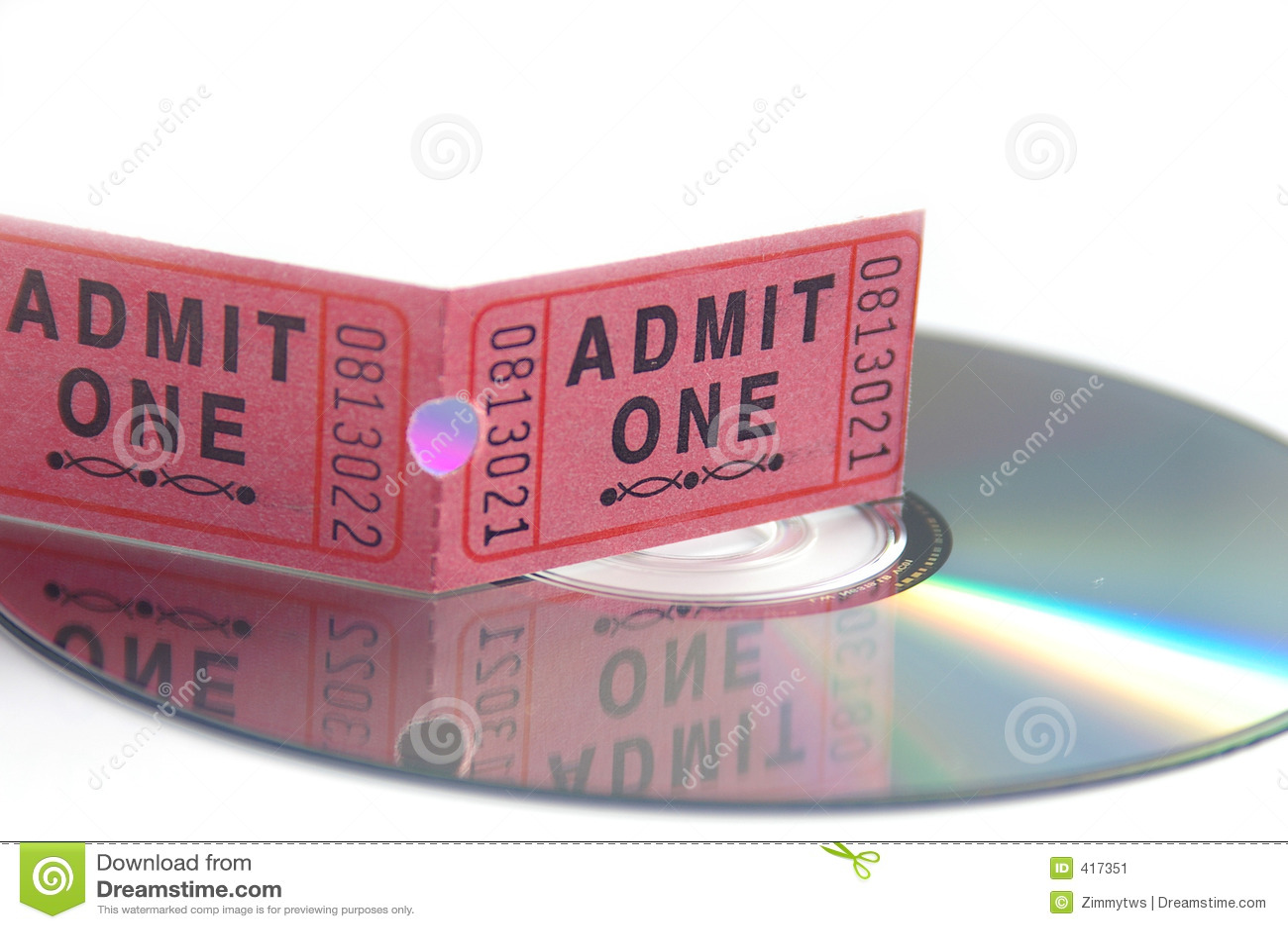 Billet de film et DVD
