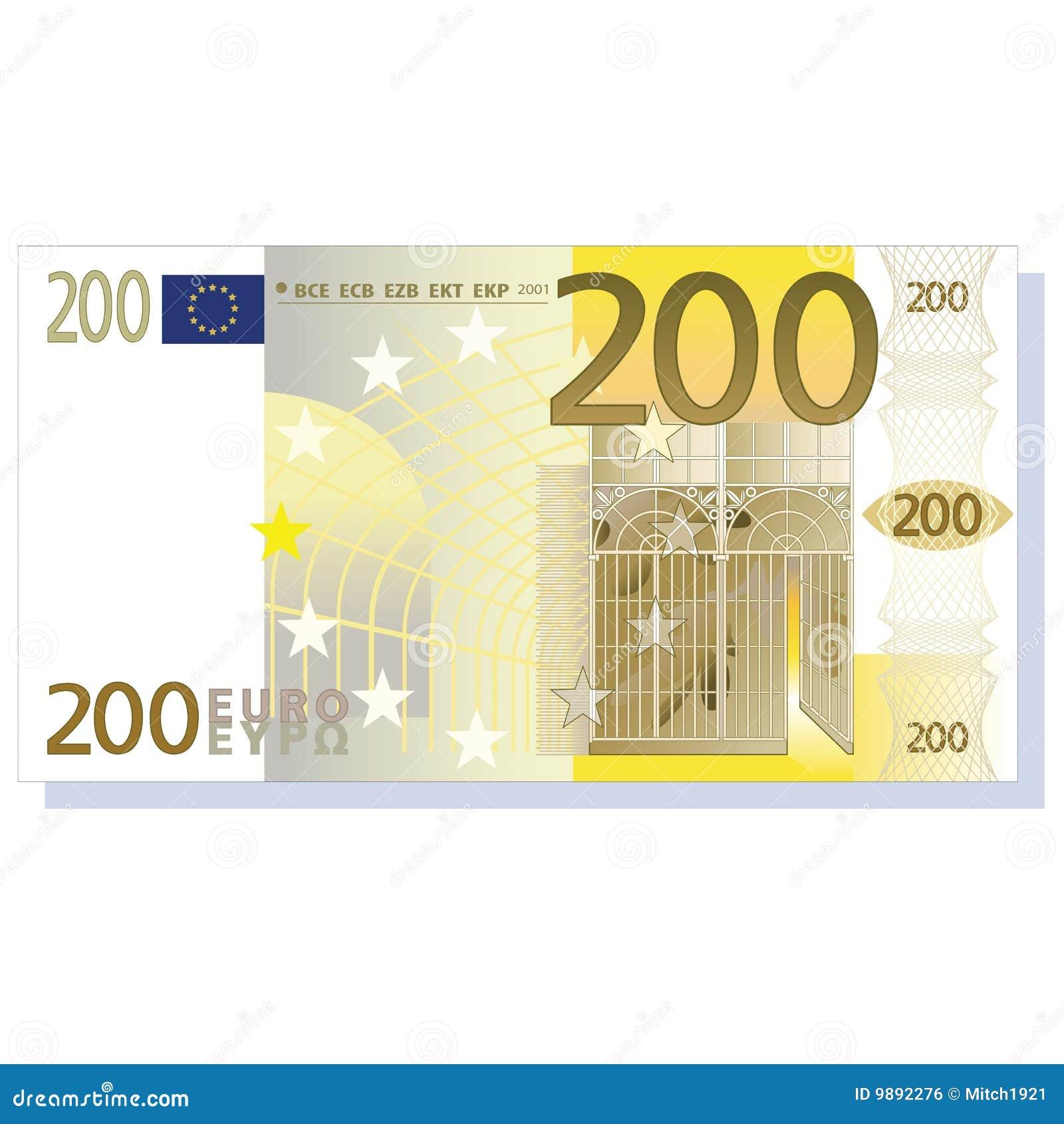 Billete de banco del euro 200