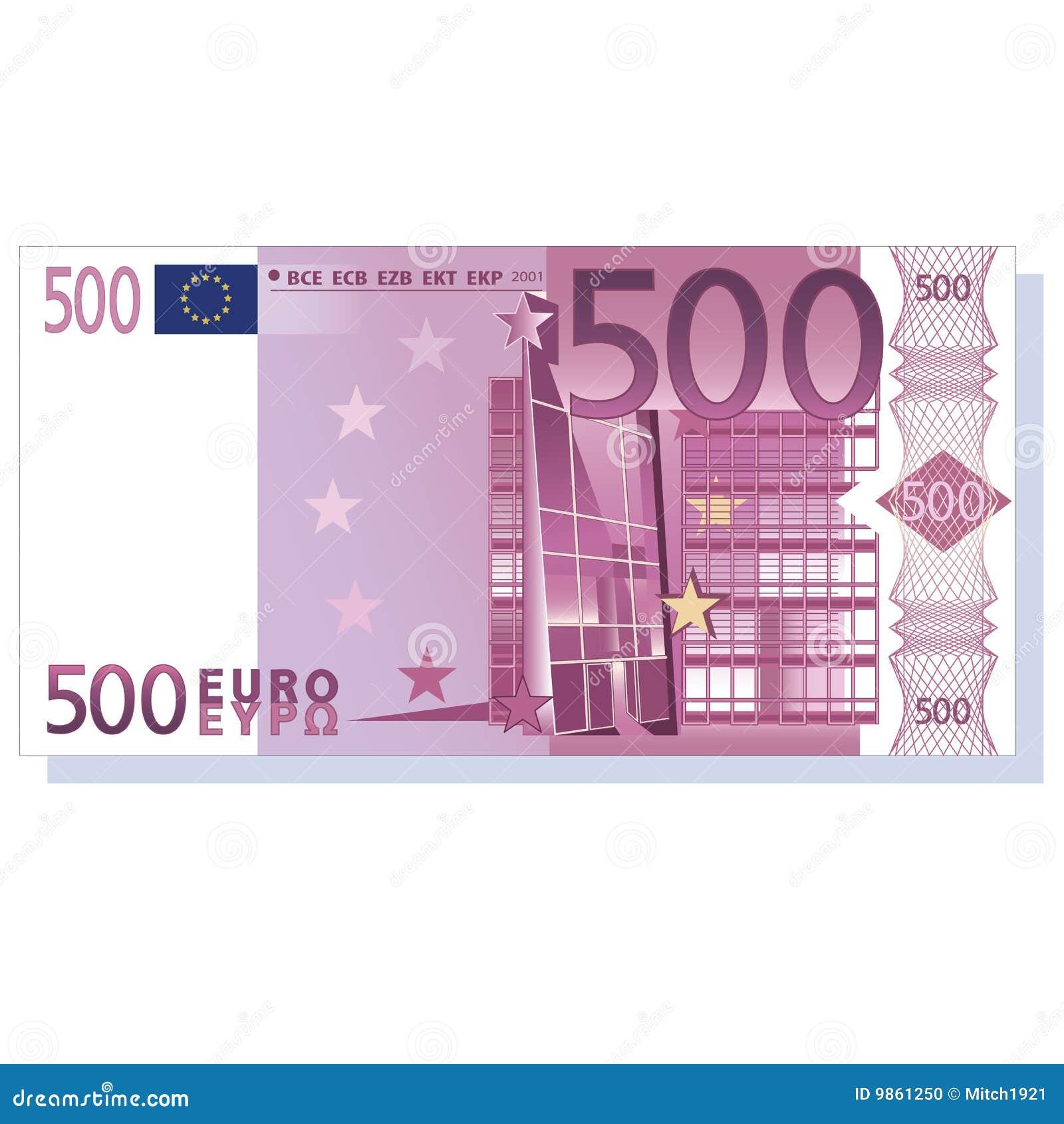 Billete de banco del euro 500