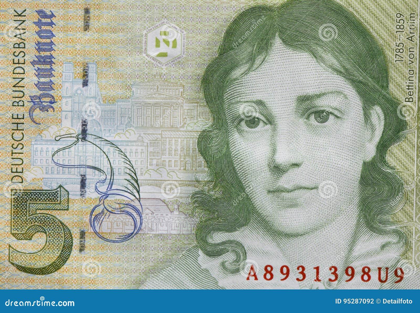 Billete de banco viejo del Deutschmark del Fife, Bill