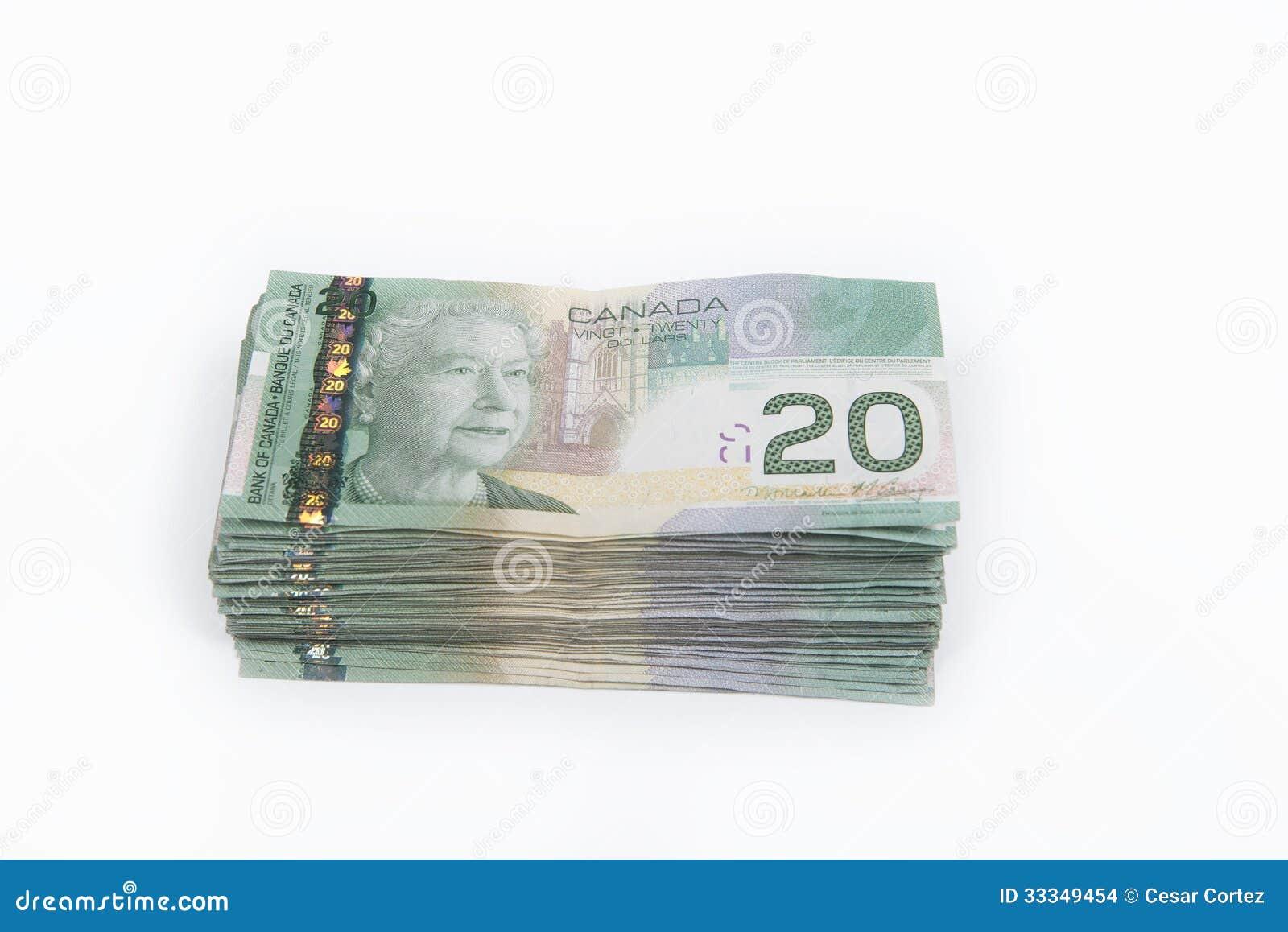 Billete de dólar del canadiense 20