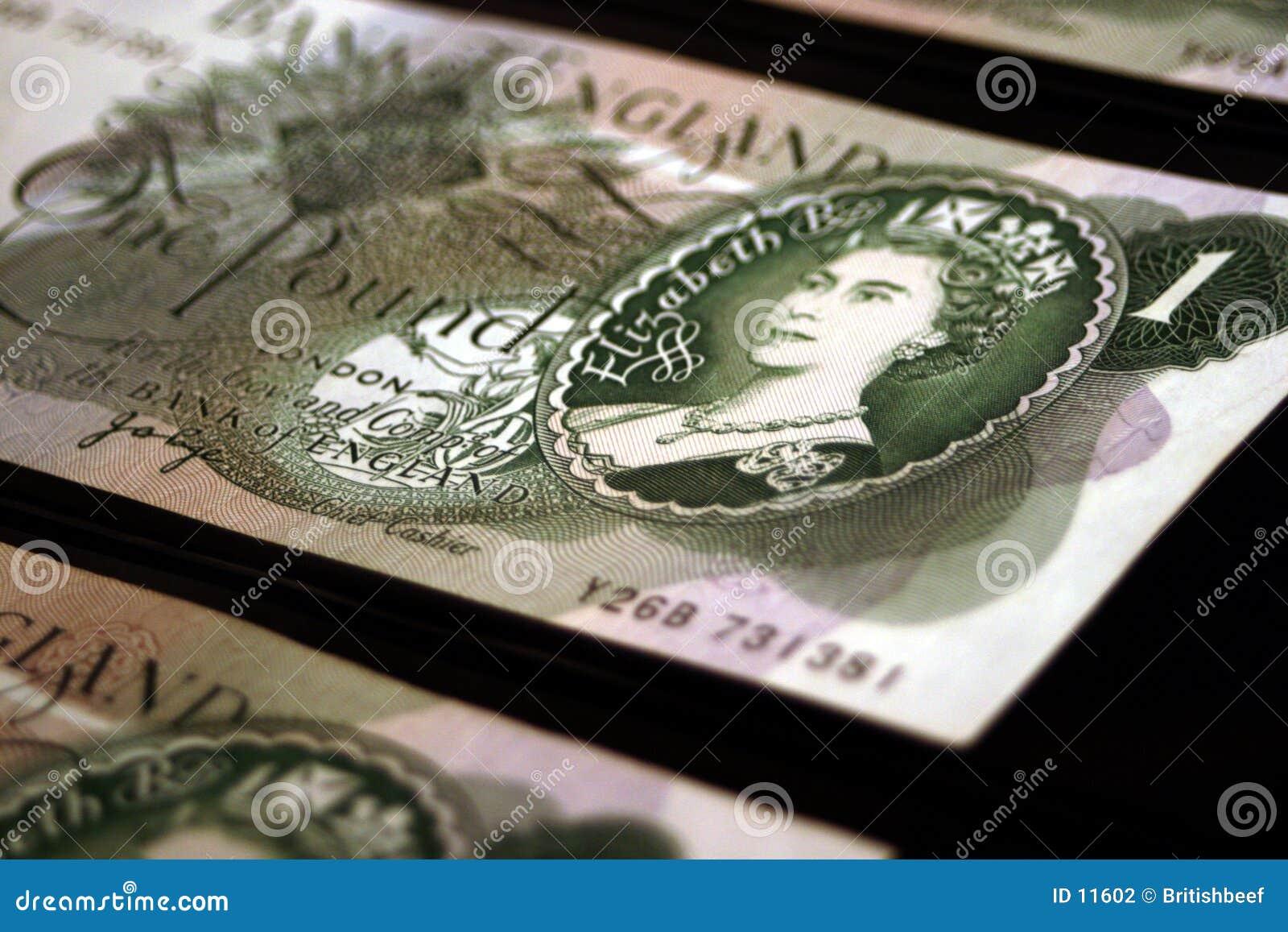 Billetes de banco británicos viejos