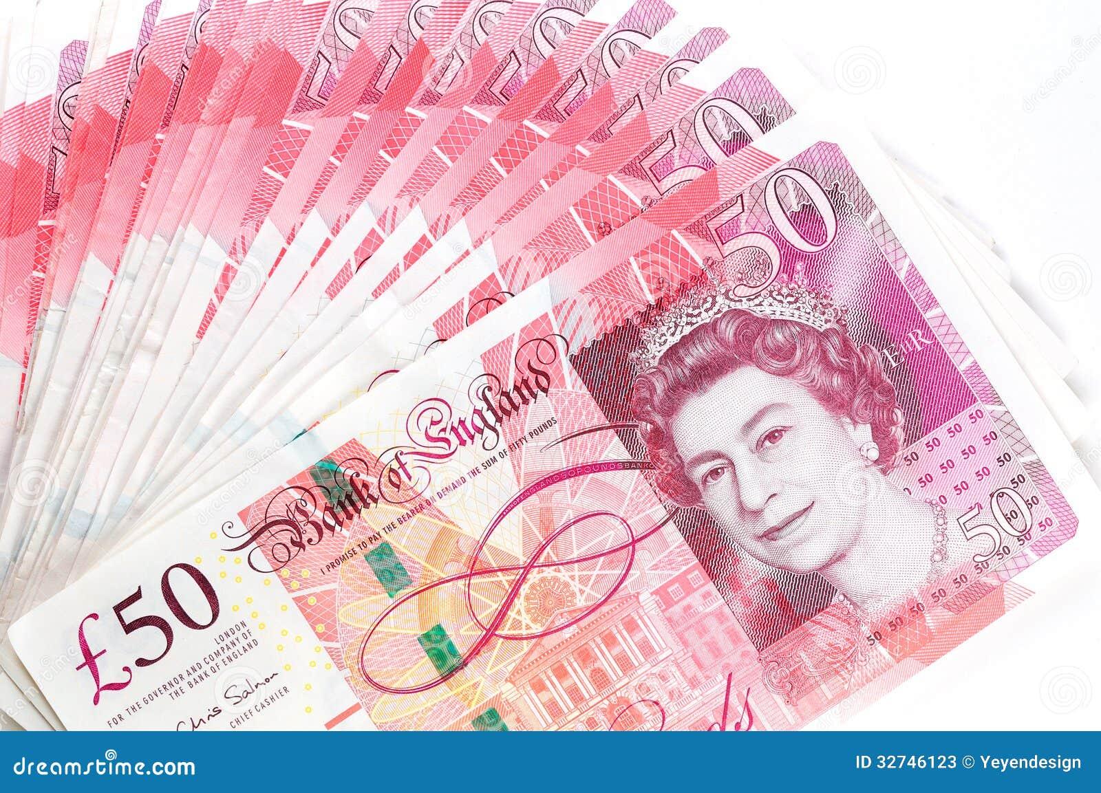 50 Billetes De Banco De La Libra Esterlina Foto De Archivo Editorial Imagen De Britain Dinero 32746123