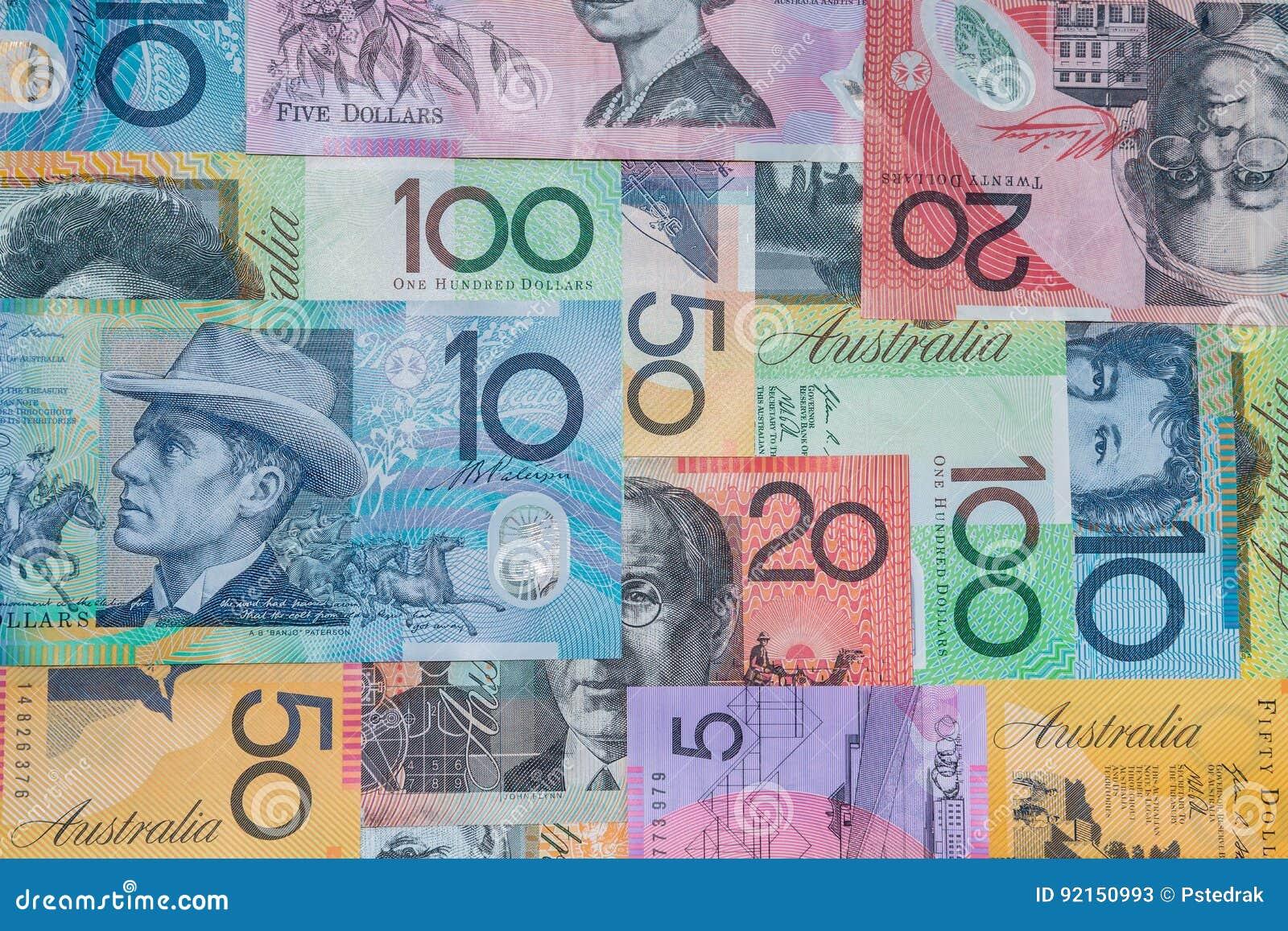 Billetes de banco del dólar australiano