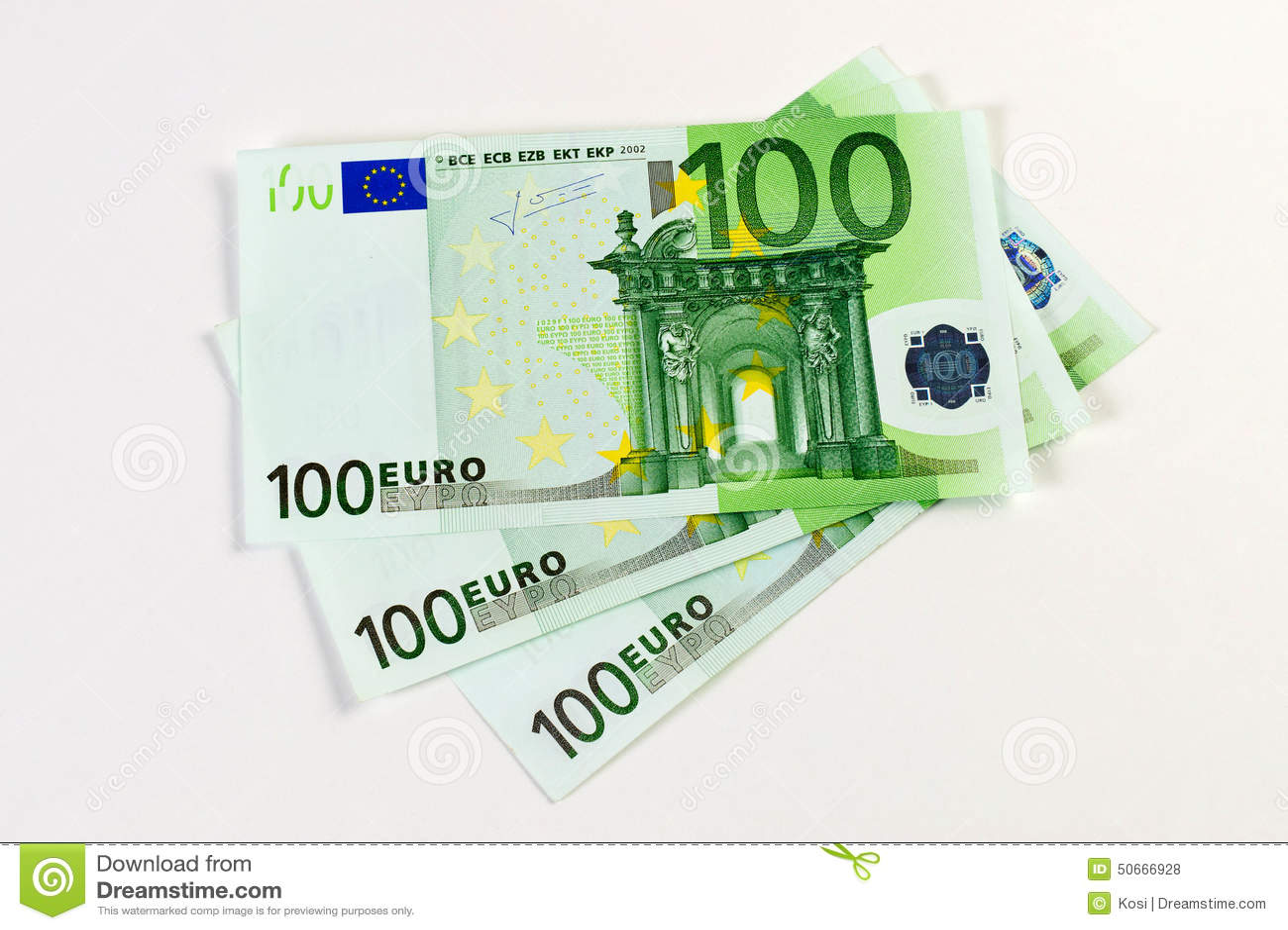 300 billetes de banco euro