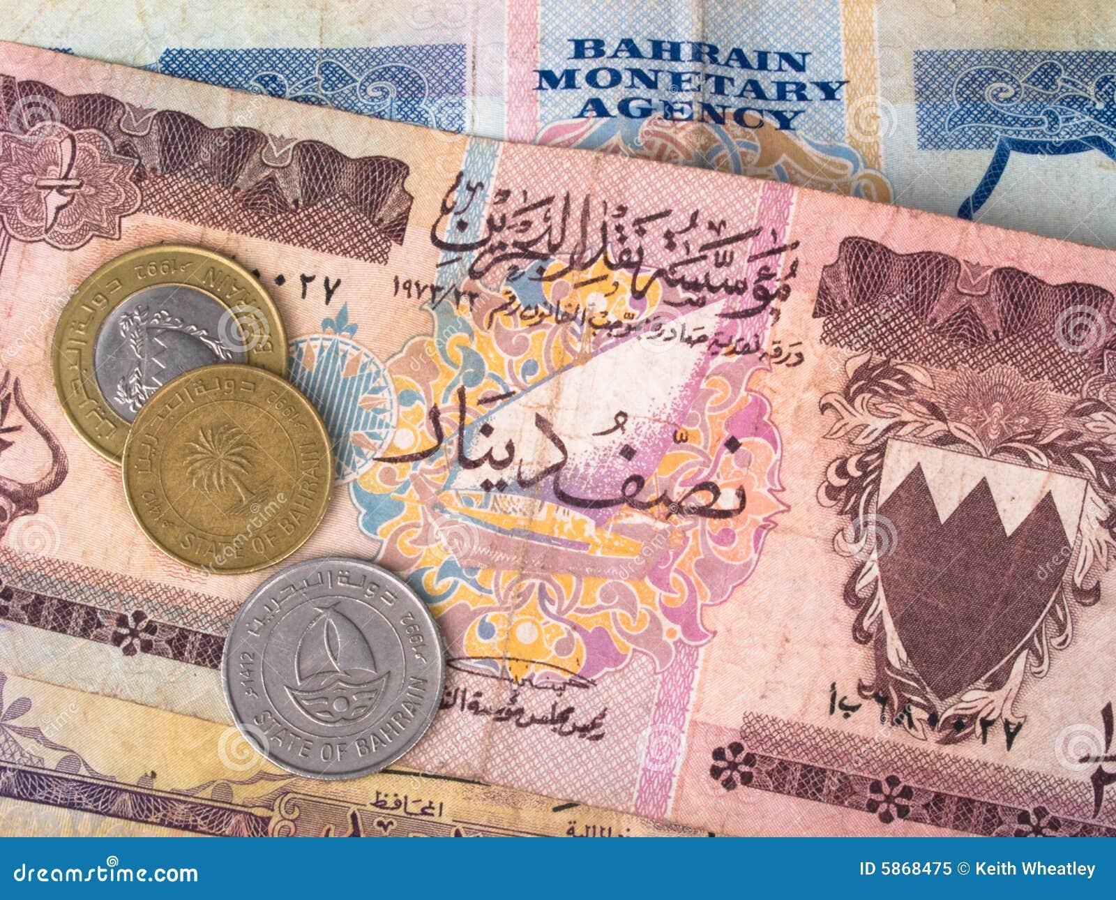 Billetes de banco y monedas de Bahrein