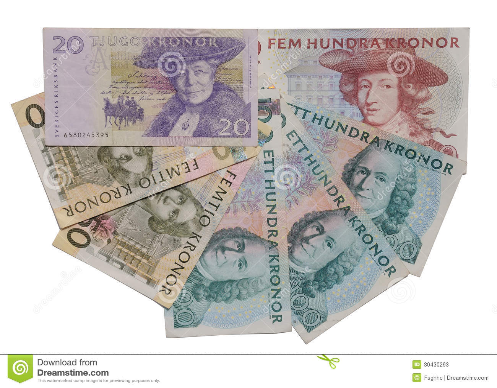 billet de banque suedois