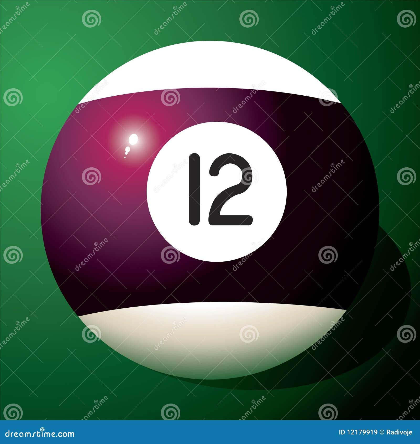 Billiard ball number 12