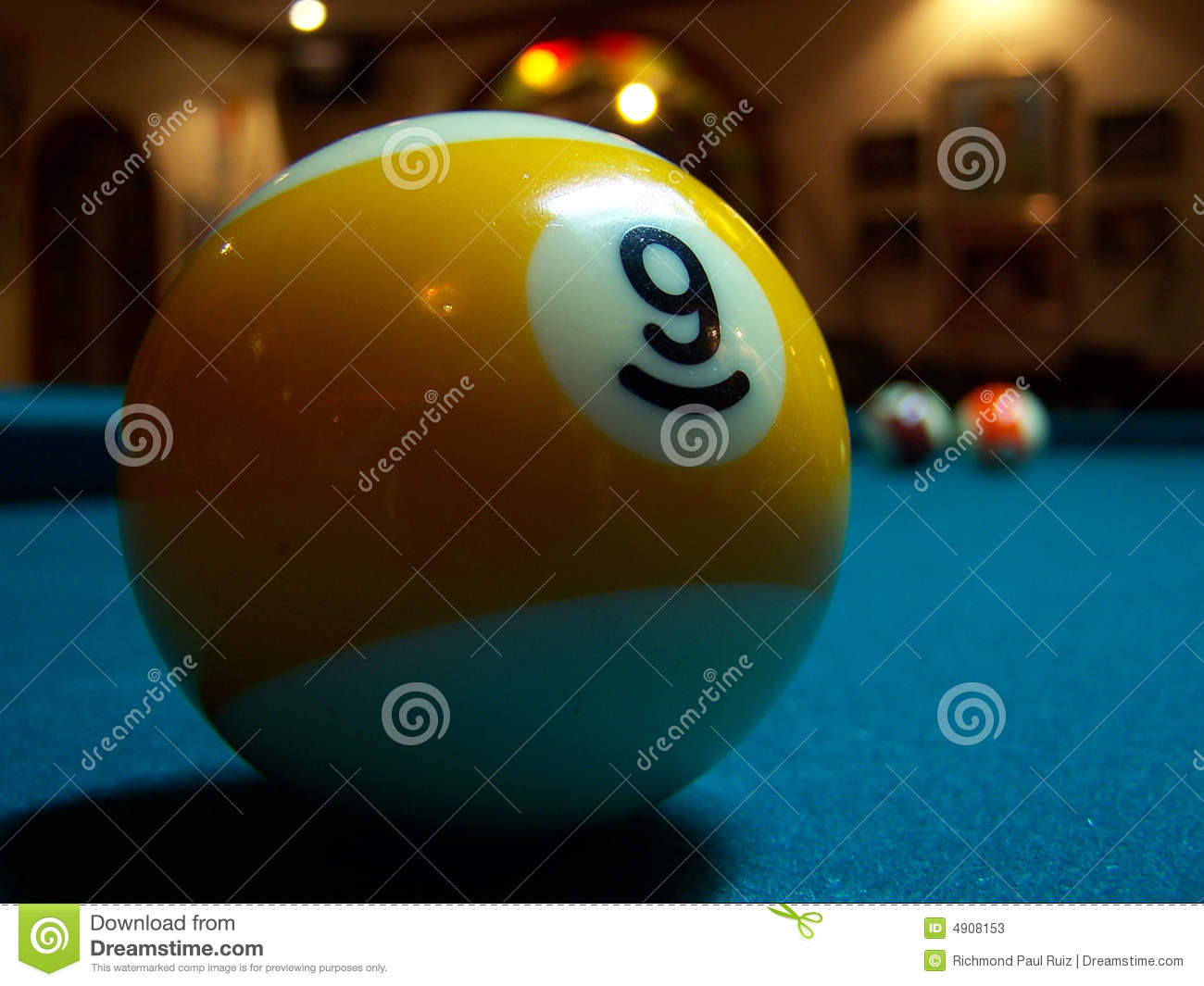Billiard Ball Number Nine Stock Photos Image 4908153