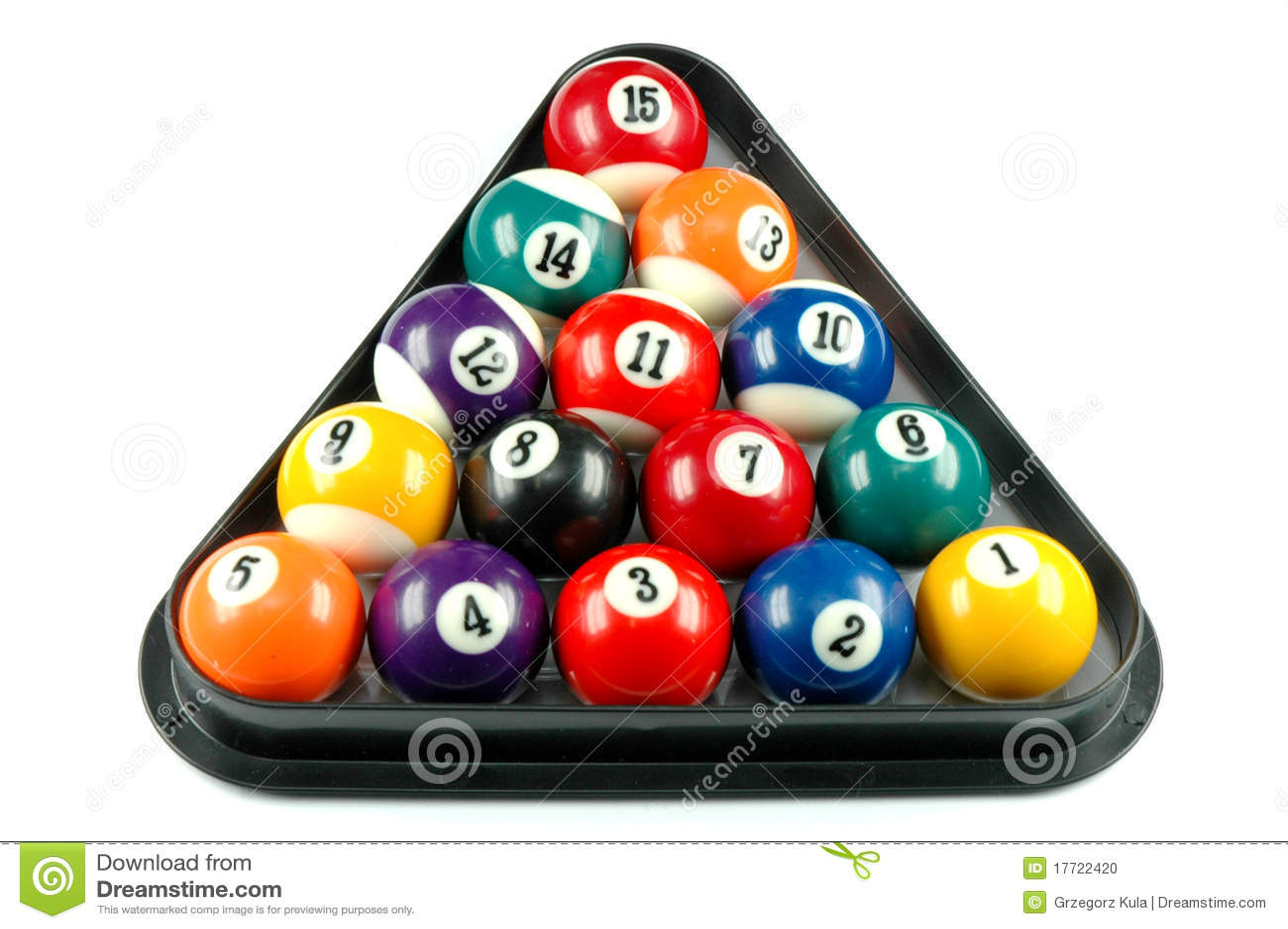 Billiard Balls Stock Photo Image Of Pool Sport Rack