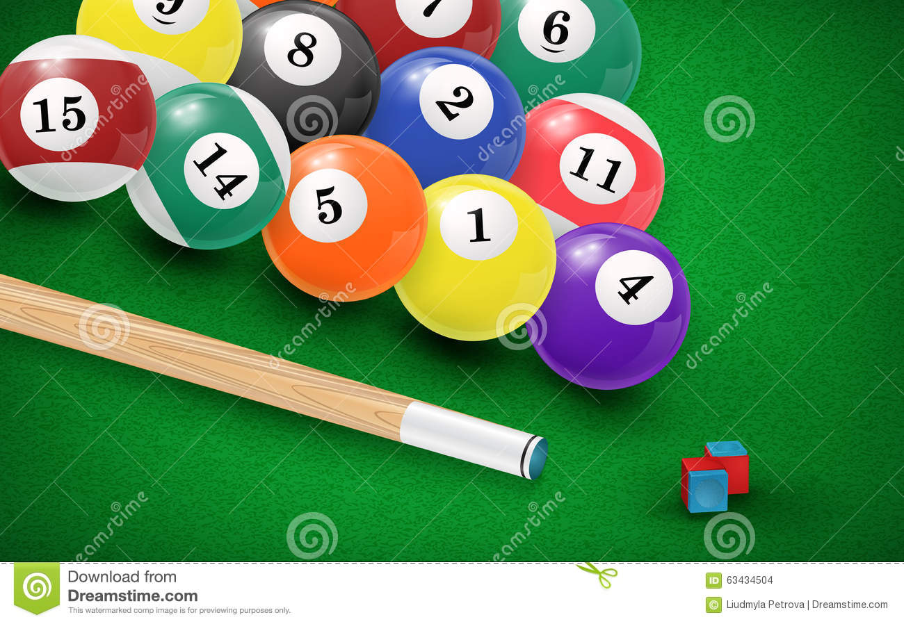 balls royalty image green free billiard pool table drawing in vector