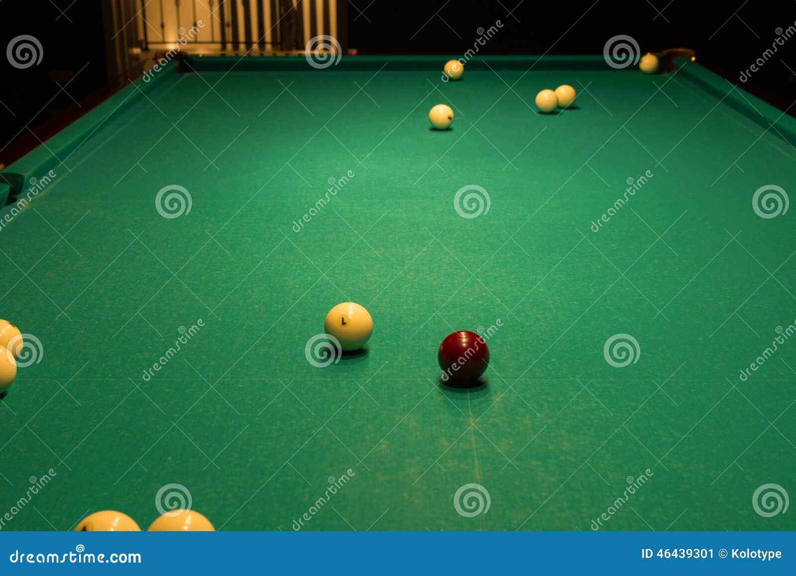 Pool Table Balls Scattered Billiard Balls ...