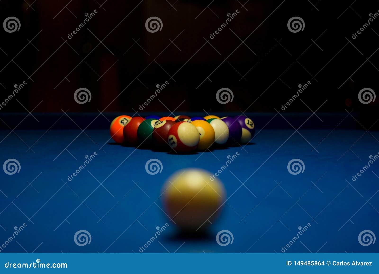Billiard balls with white ball