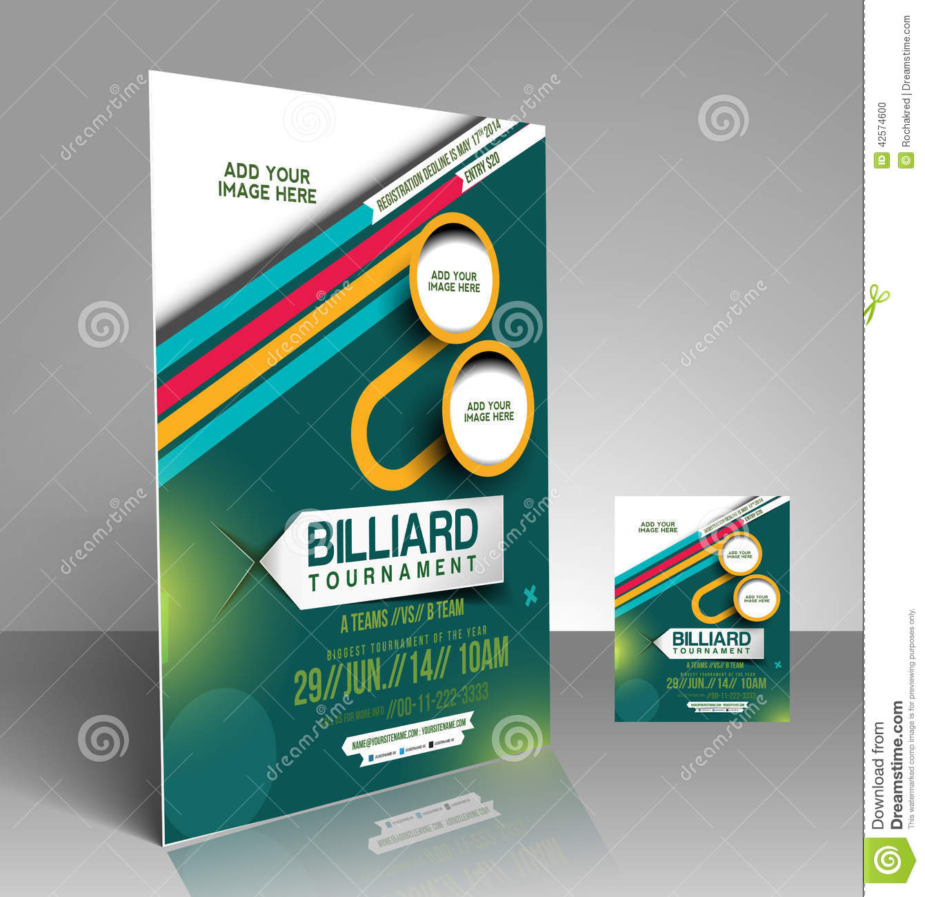 Billiard Competition Flyer Stock Vector Illustration Of Beautiful