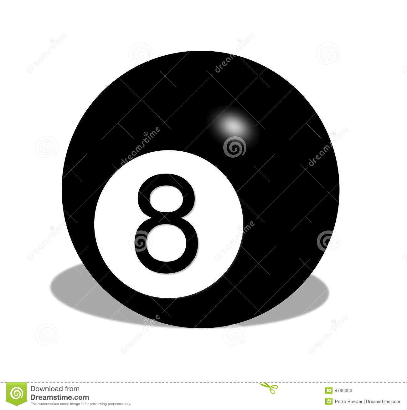 Billiard number eight ball stock illustration image of pool 8760000 - 8 ball pictures ...