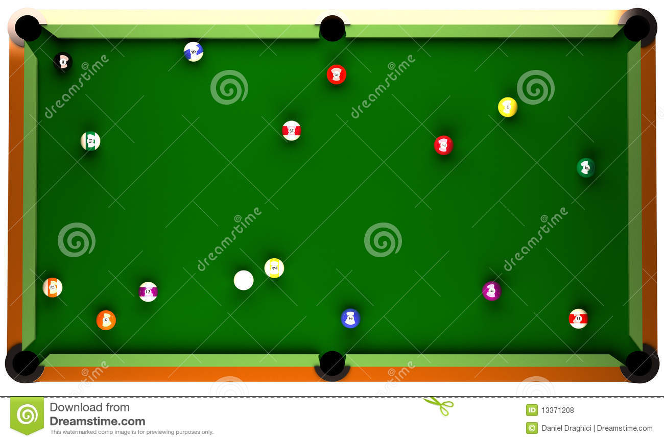 Royalty Free Stock Photo. Download Billiard Table ...