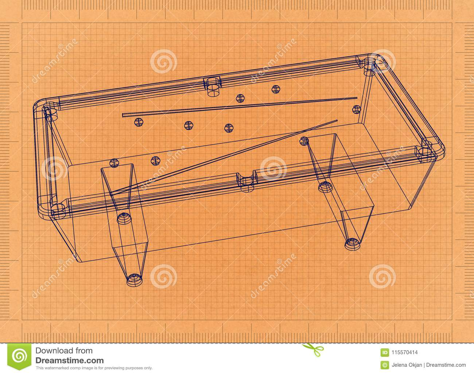 Billiard Table - Retro Blueprint Stock Illustration ... on tv schematics, pool tool ball ghost, pool hole sizes, whirlpool schematics, computer schematics, elevator schematics, pinball schematics, pool drawing, stereo schematics, air hockey schematics,