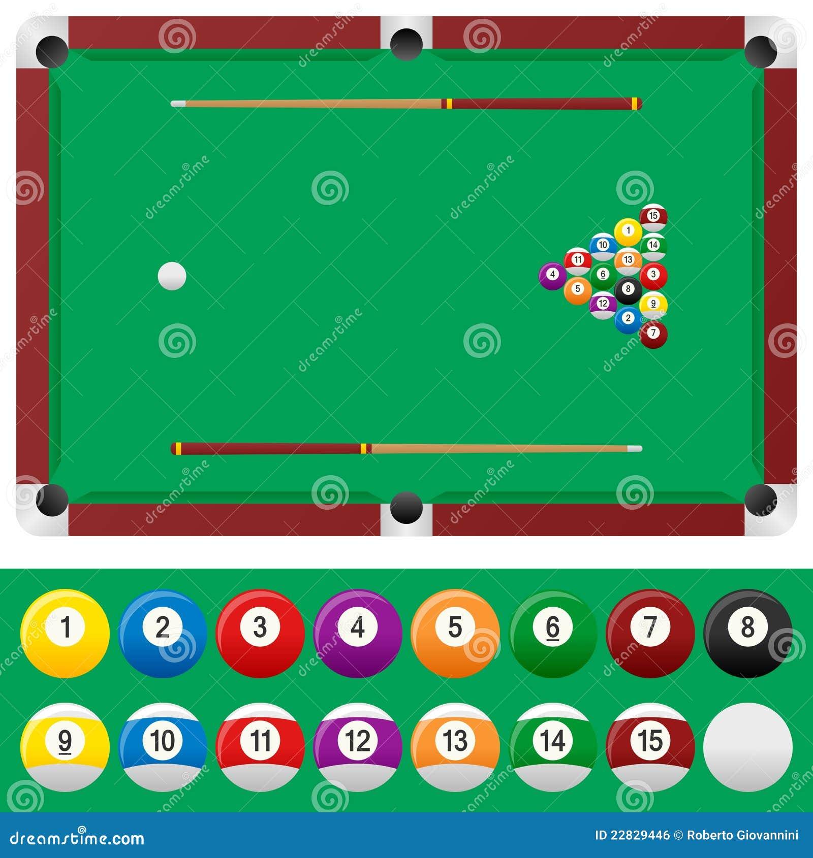 billiard table set royalty free stock image