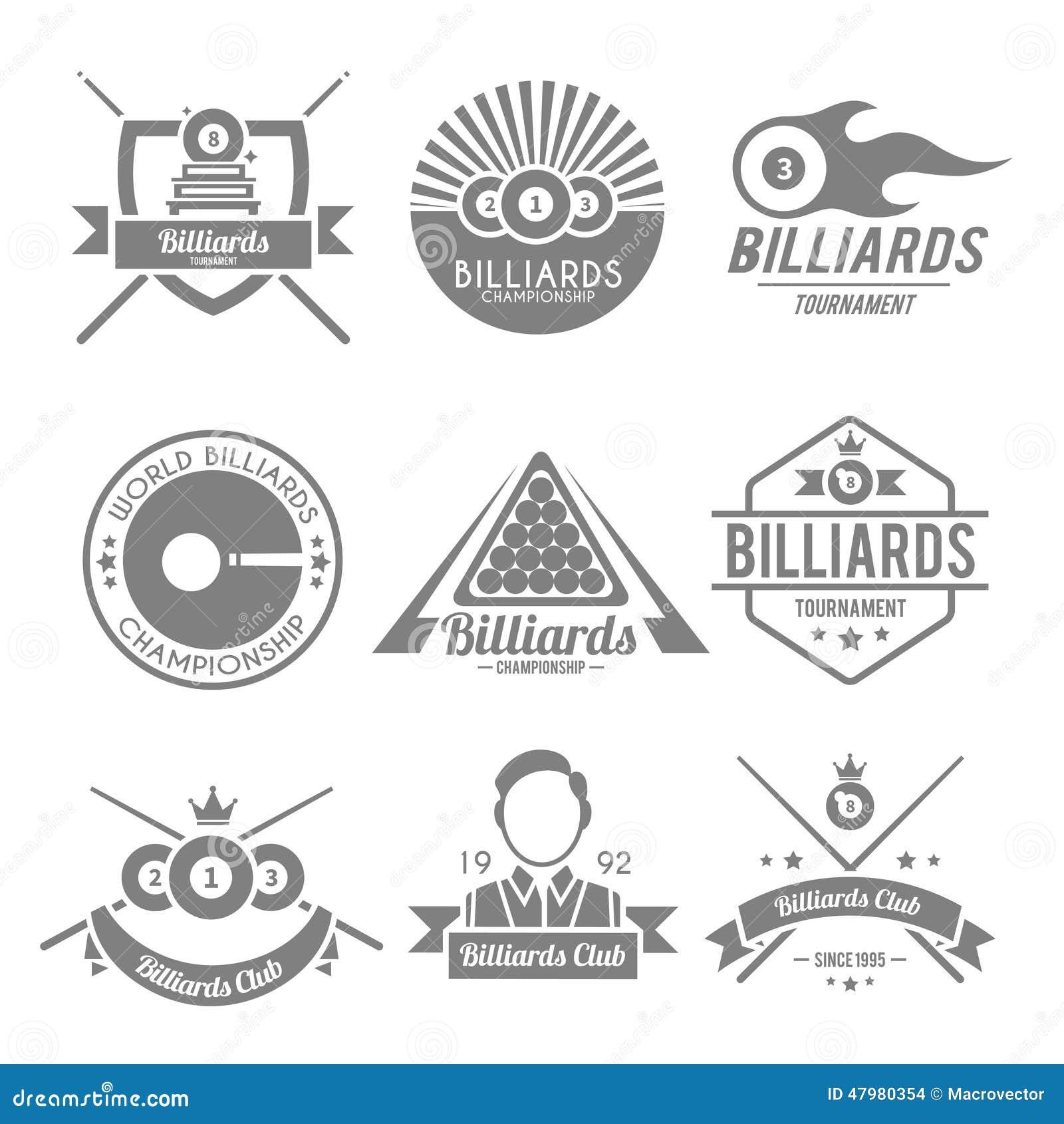 Billiards czerni etykietka