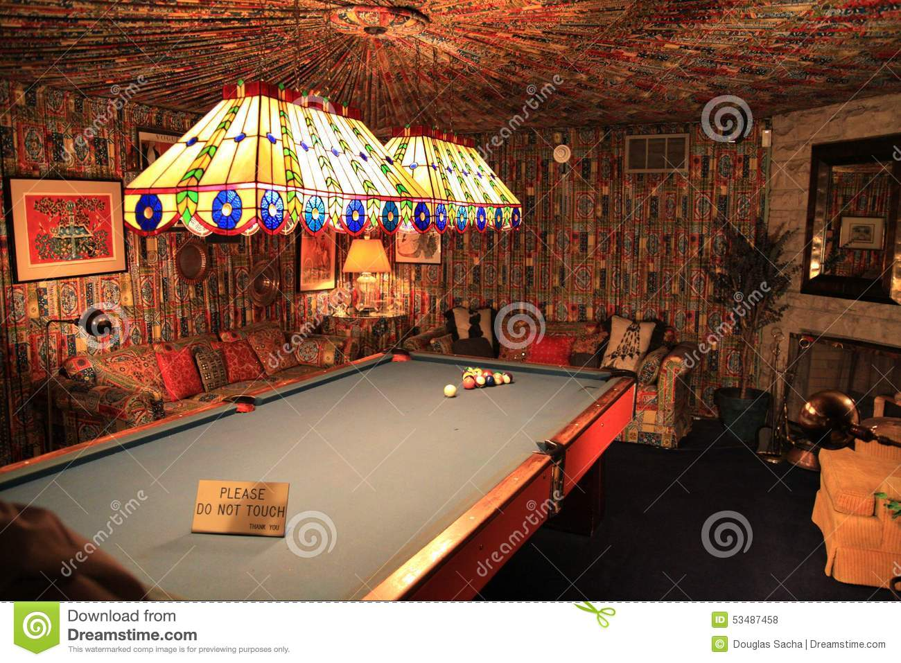 Billiards room at Elvis Presley's Graceland