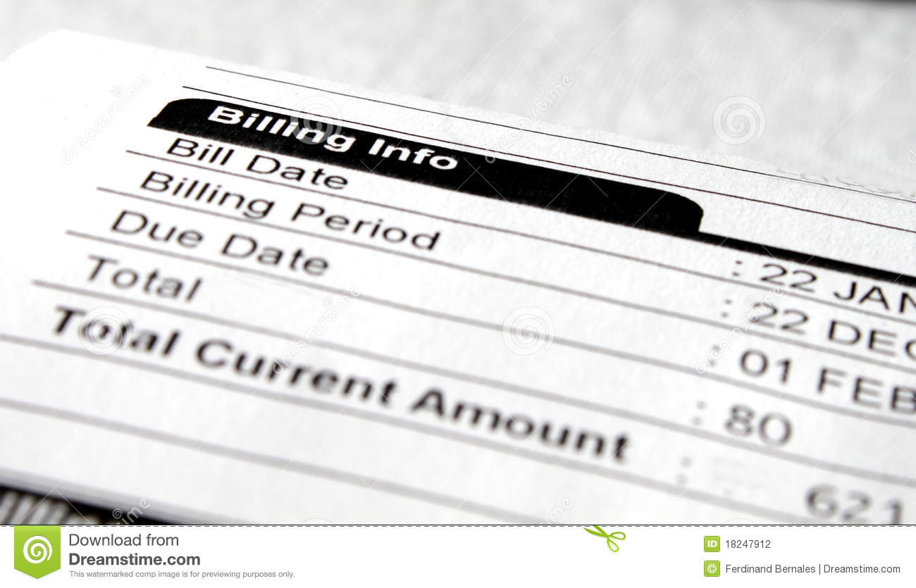 billing note stock photography image 18247912