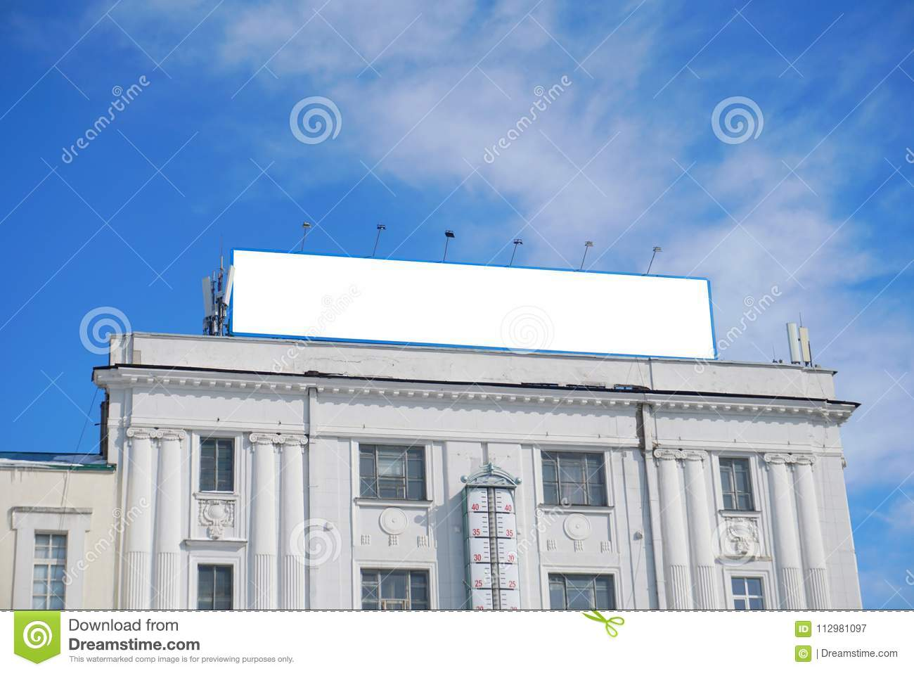 Billlboard for an advertise with the blue sky.