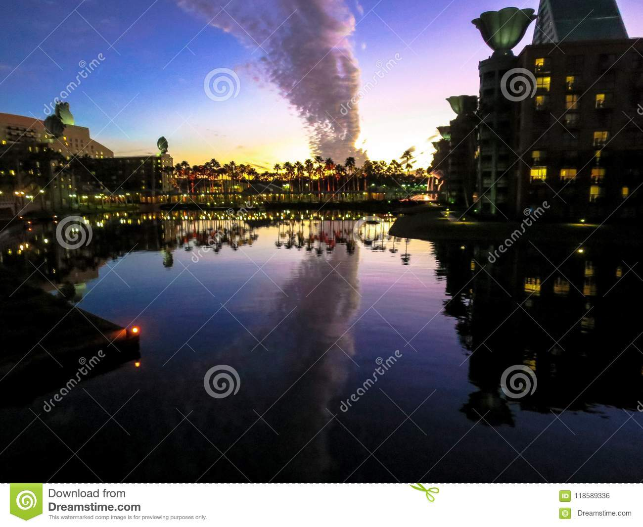 Billow of Clouds stock photo  Image of palm, evening - 118589336