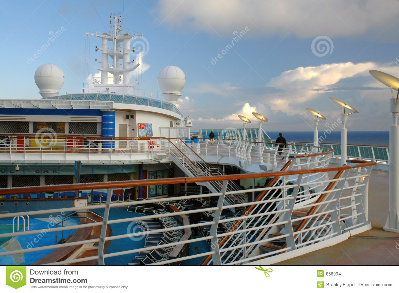 Billowing Clouds From Deck Of Cruise Ship In Alaska Stock
