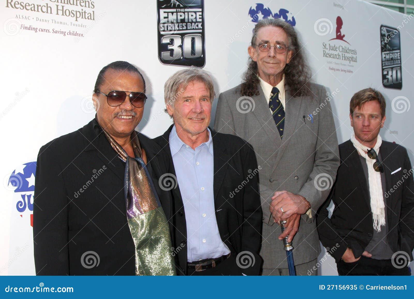 Billy Dee Williams, Harrison Ford, Peter Mayhew, William Harrison